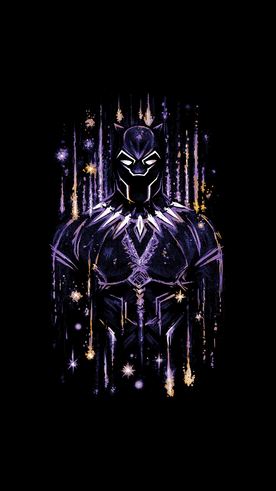 Black Panther Neon Wallpapers Wallpaper Cave