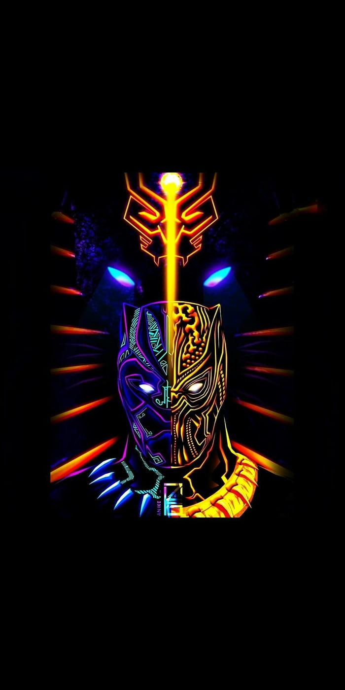 Black Panther Neon Wallpaper Hd Hd Blast