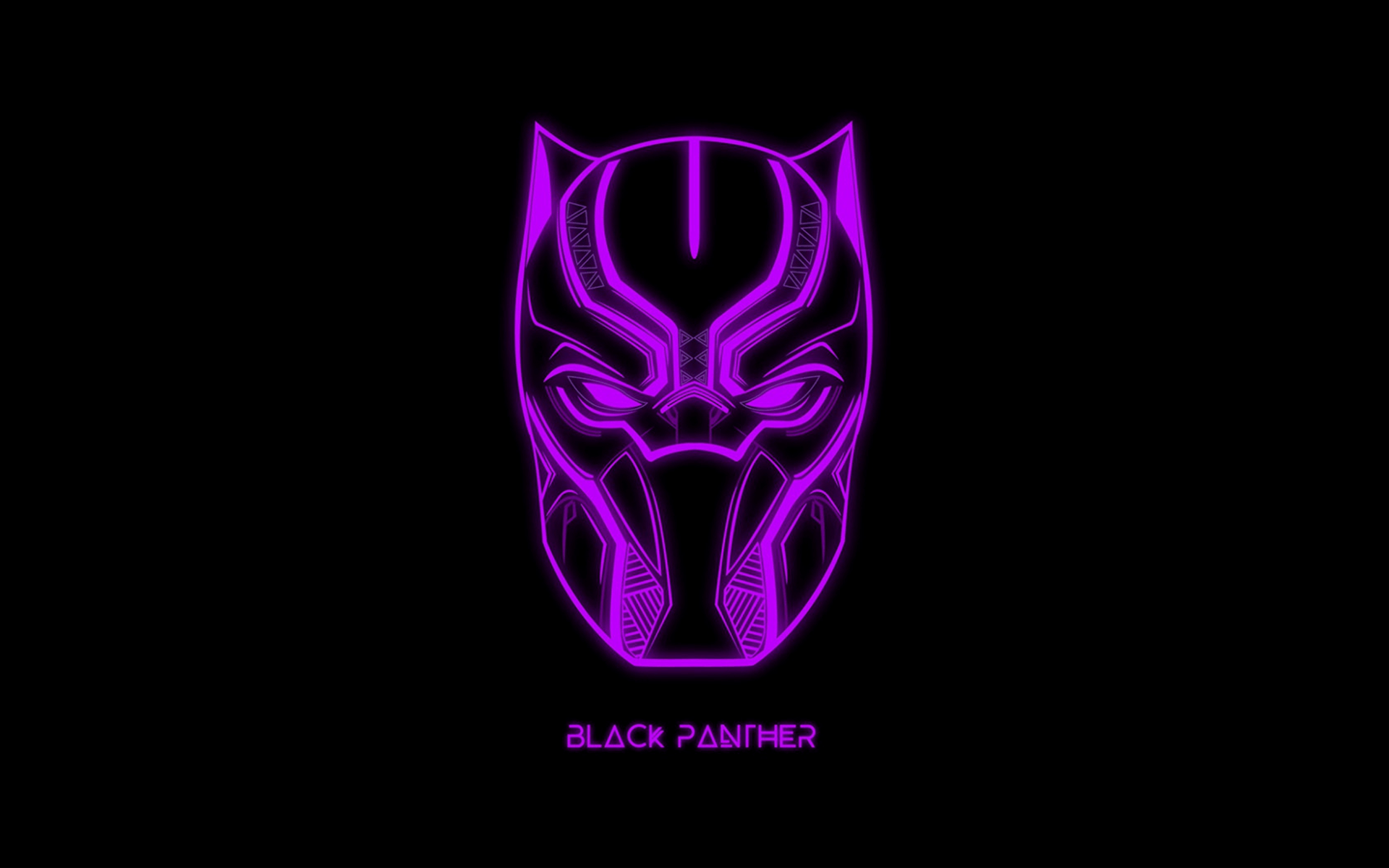 Black Panther Neon Wallpapers - Wallpaper Cave