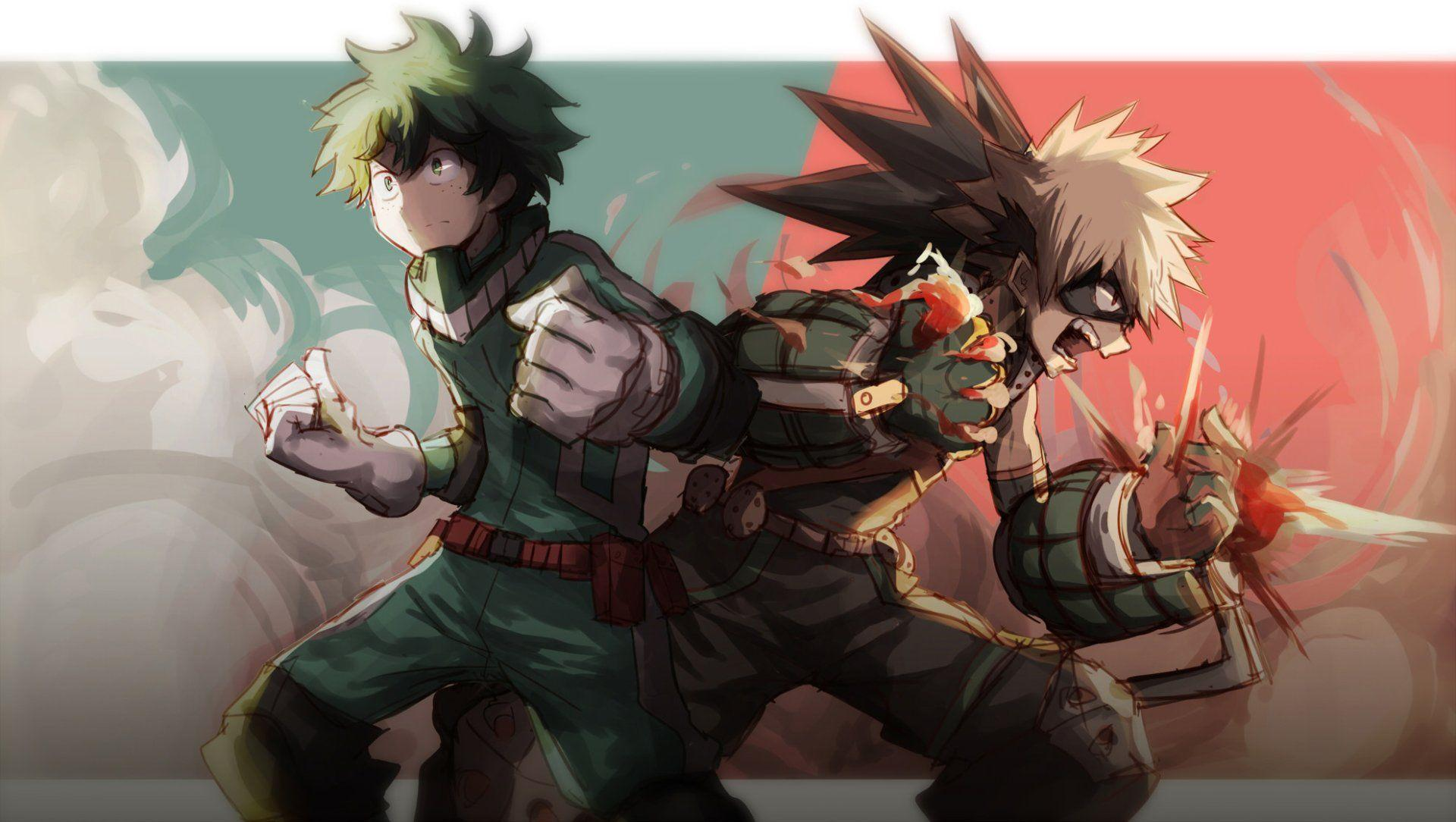 Katsuki Vs Midoriya Wallpapers Wallpaper Cave