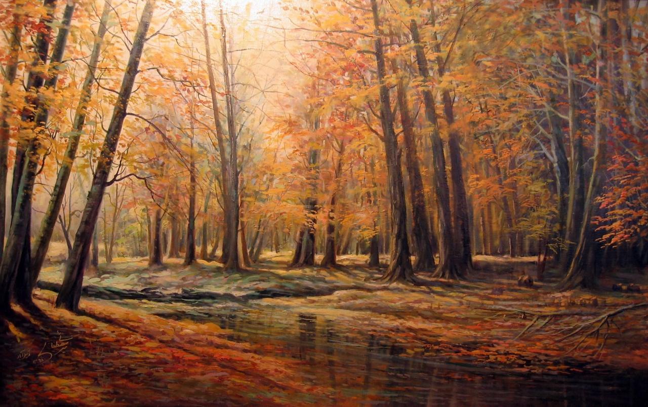 foto de Forest Creek Autumn Iphone Xs Wallpaper - Télécharger Gratuites