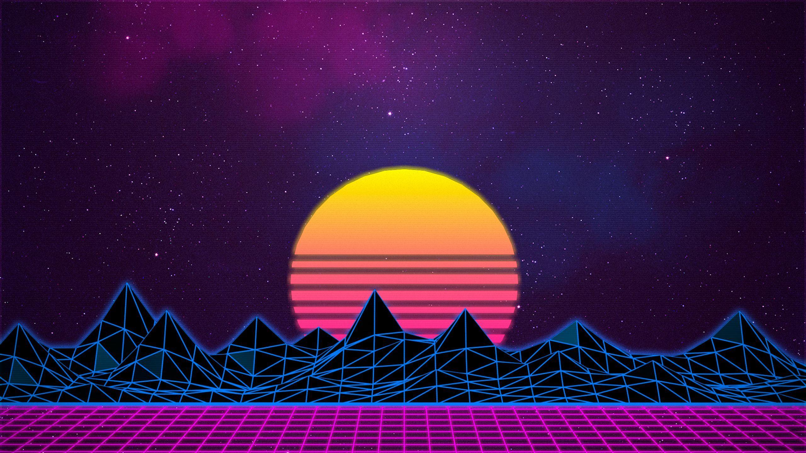 Retro Gaming Sunrise Wallpapers Wallpaper Cave