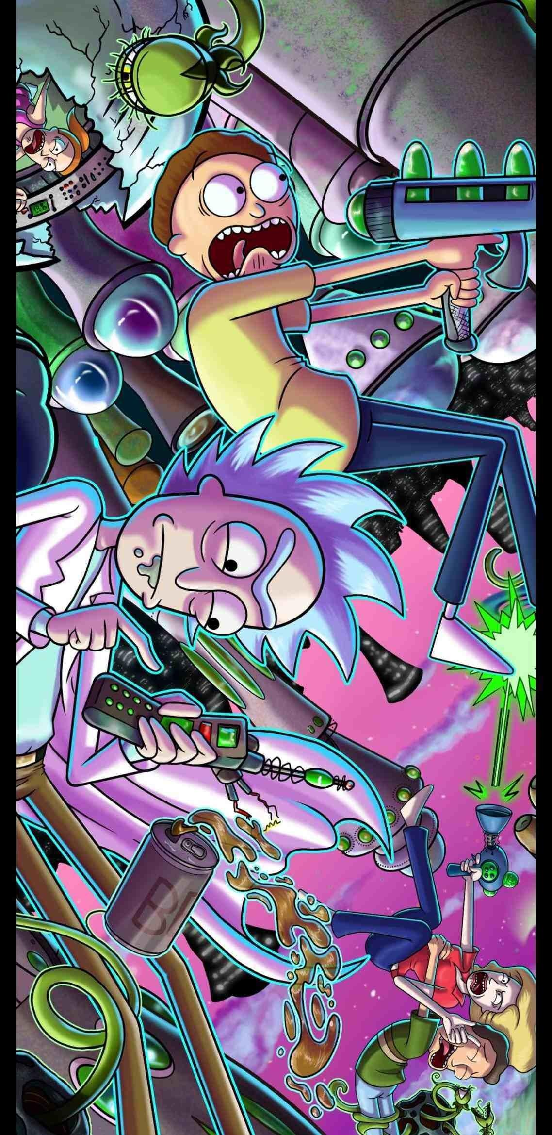 Trippy Rick And Morty Wallpapers Wallpaper Cave