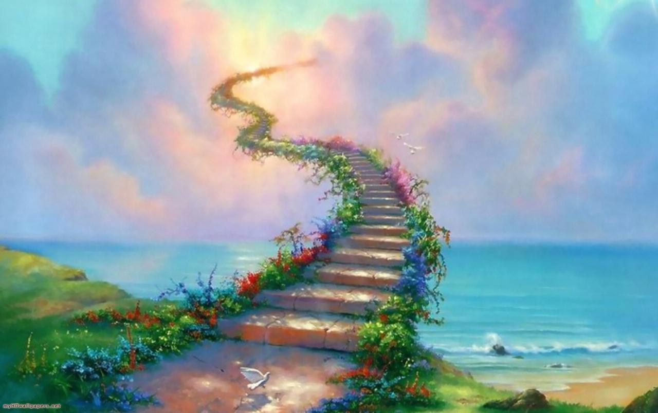 картинка лестница в небо тому же