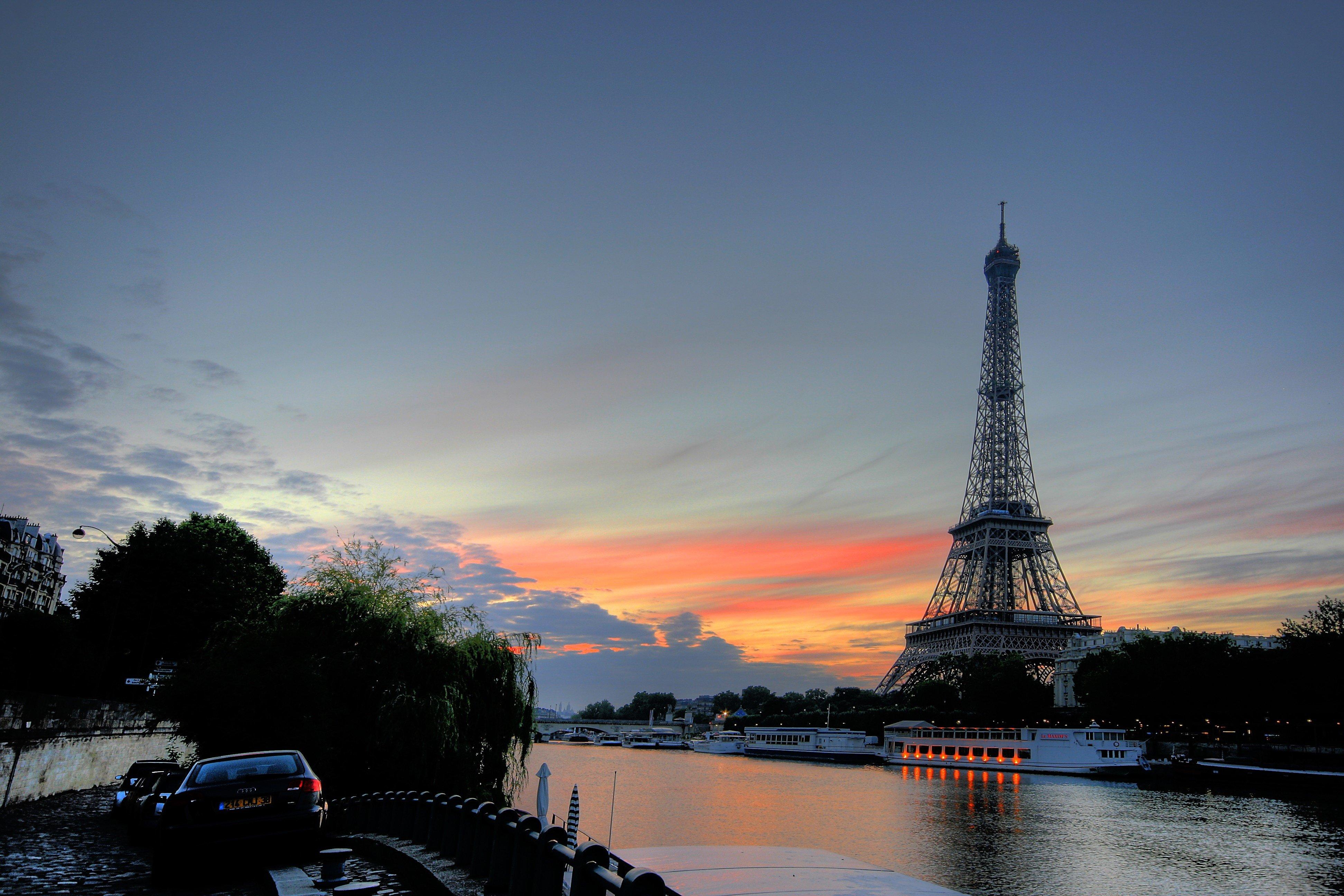 Paris Sunset Wallpapers Wallpaper Cave