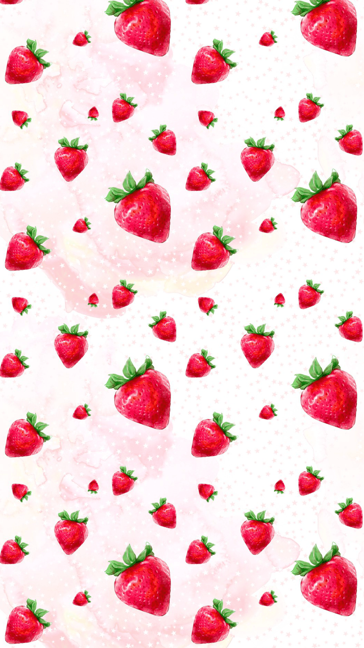 Kawaii Strawberry Wallpapers Wallpaper Cave