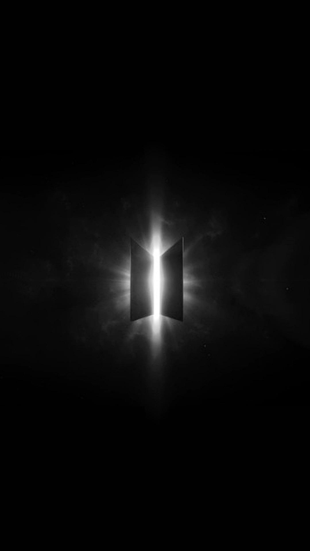 Dark Theme Galaxy Bts Logo Wallpaper