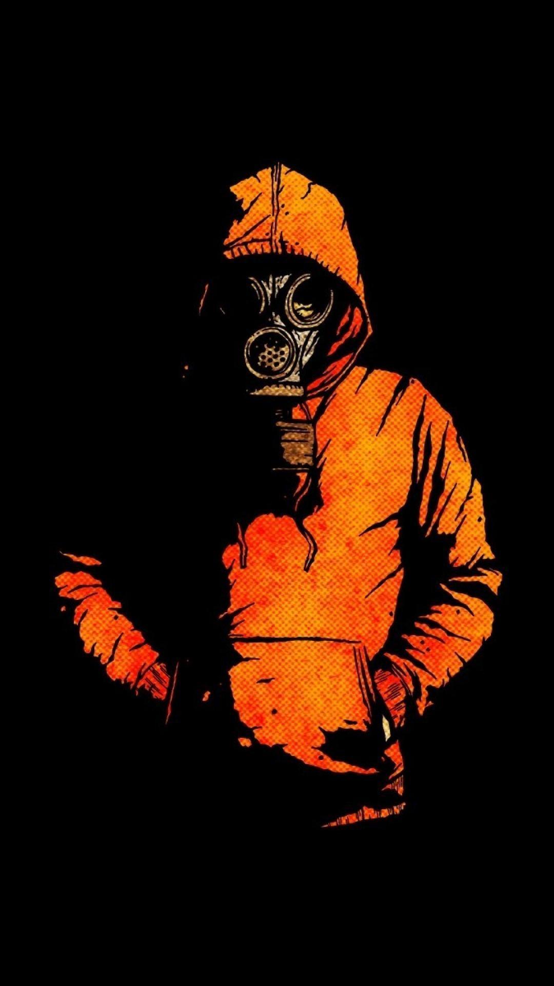 Iphone Black Orange Wallpapers Wallpaper Cave