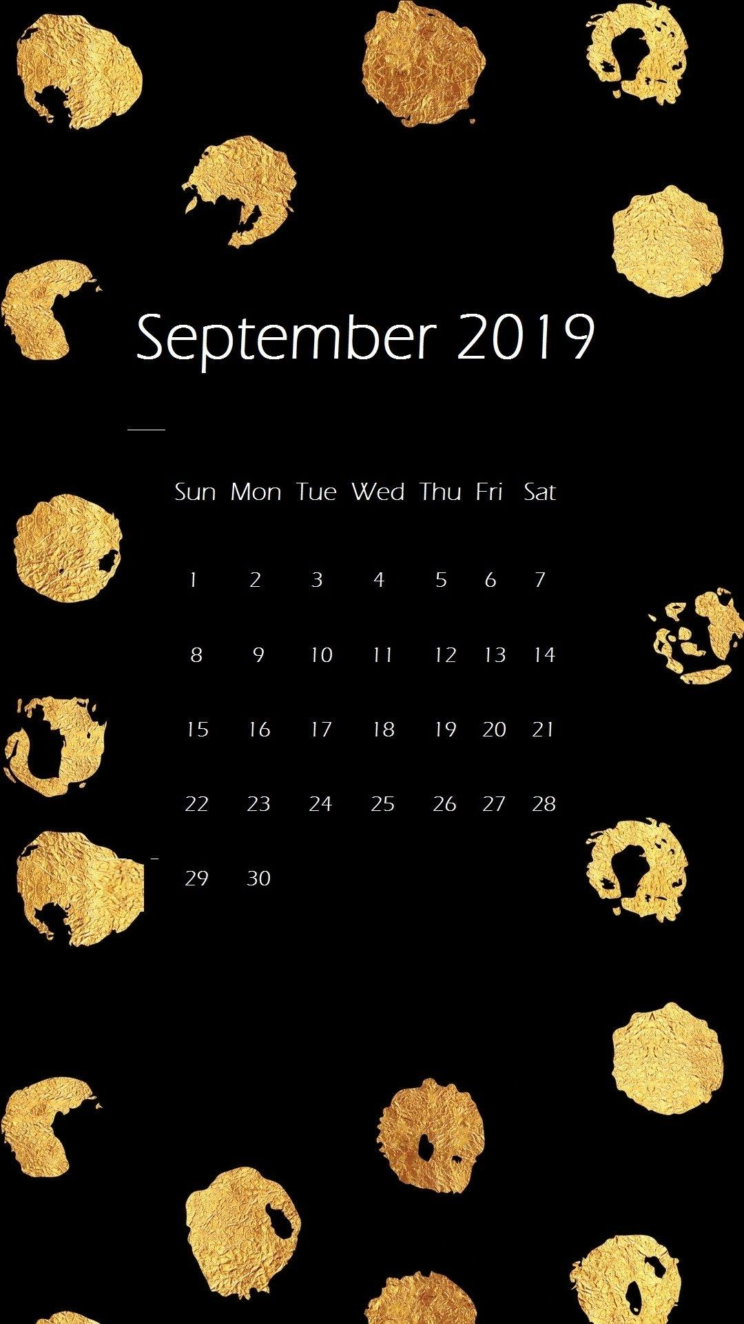 September 2019 Iphone Wallpapers Calendar Calendar 2019September 2019