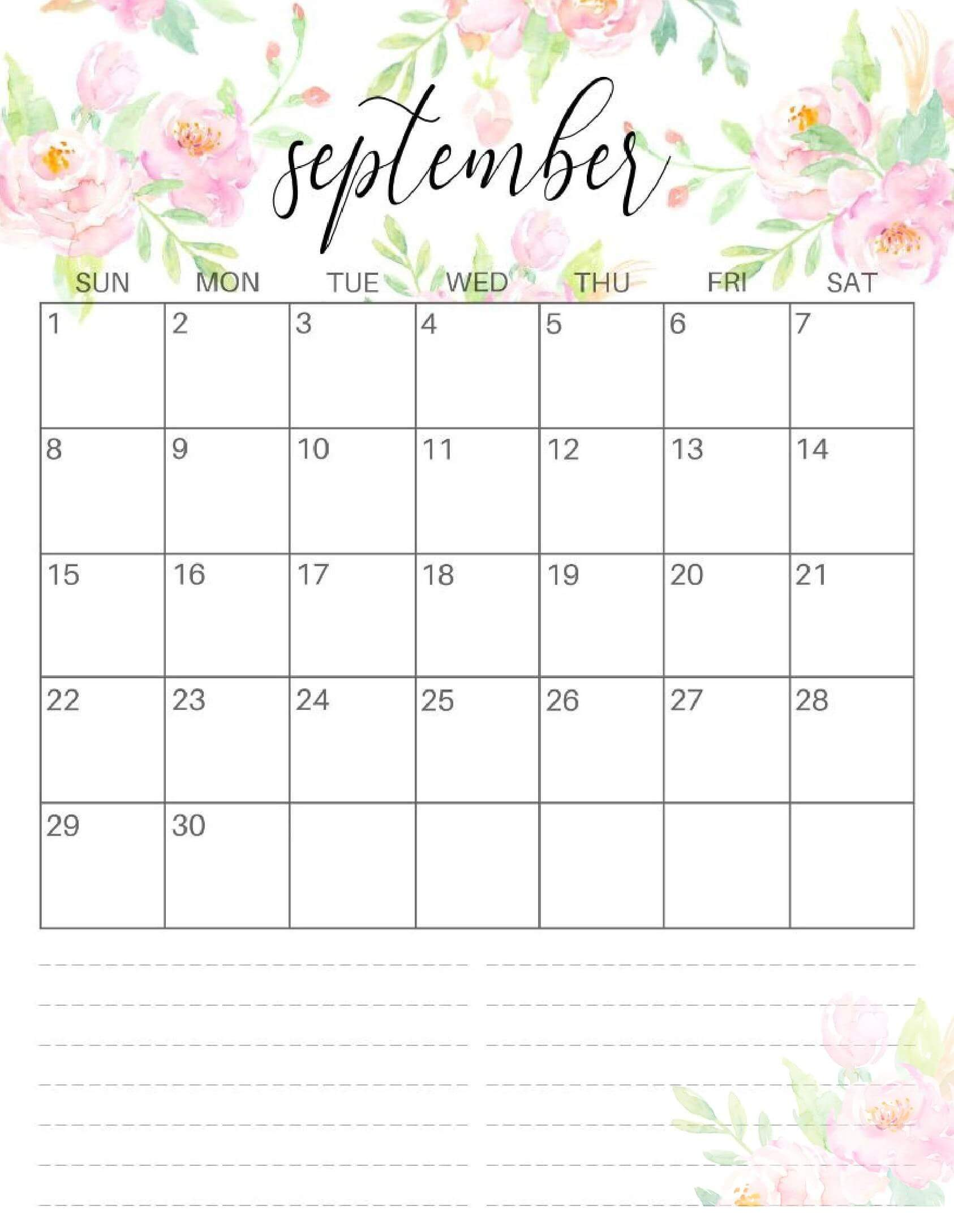 Cute September 2019 Calendar Wallpapers Image