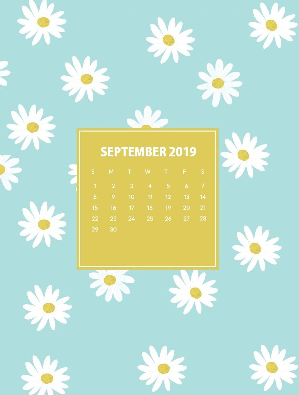 iPhone September 2019 Calendar Wallpapers