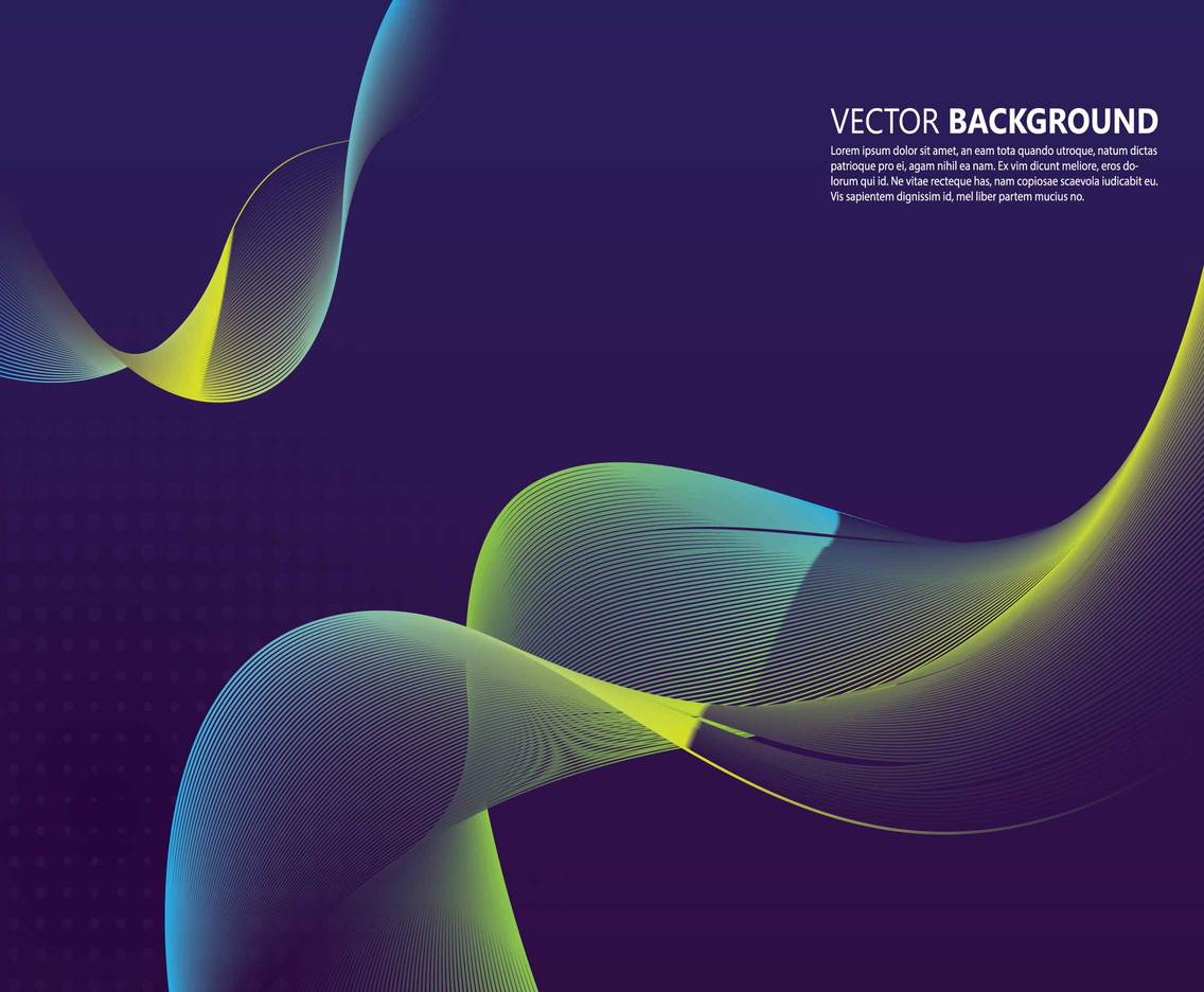 Abstract Wave Wallpapers Vector Art & Graphics