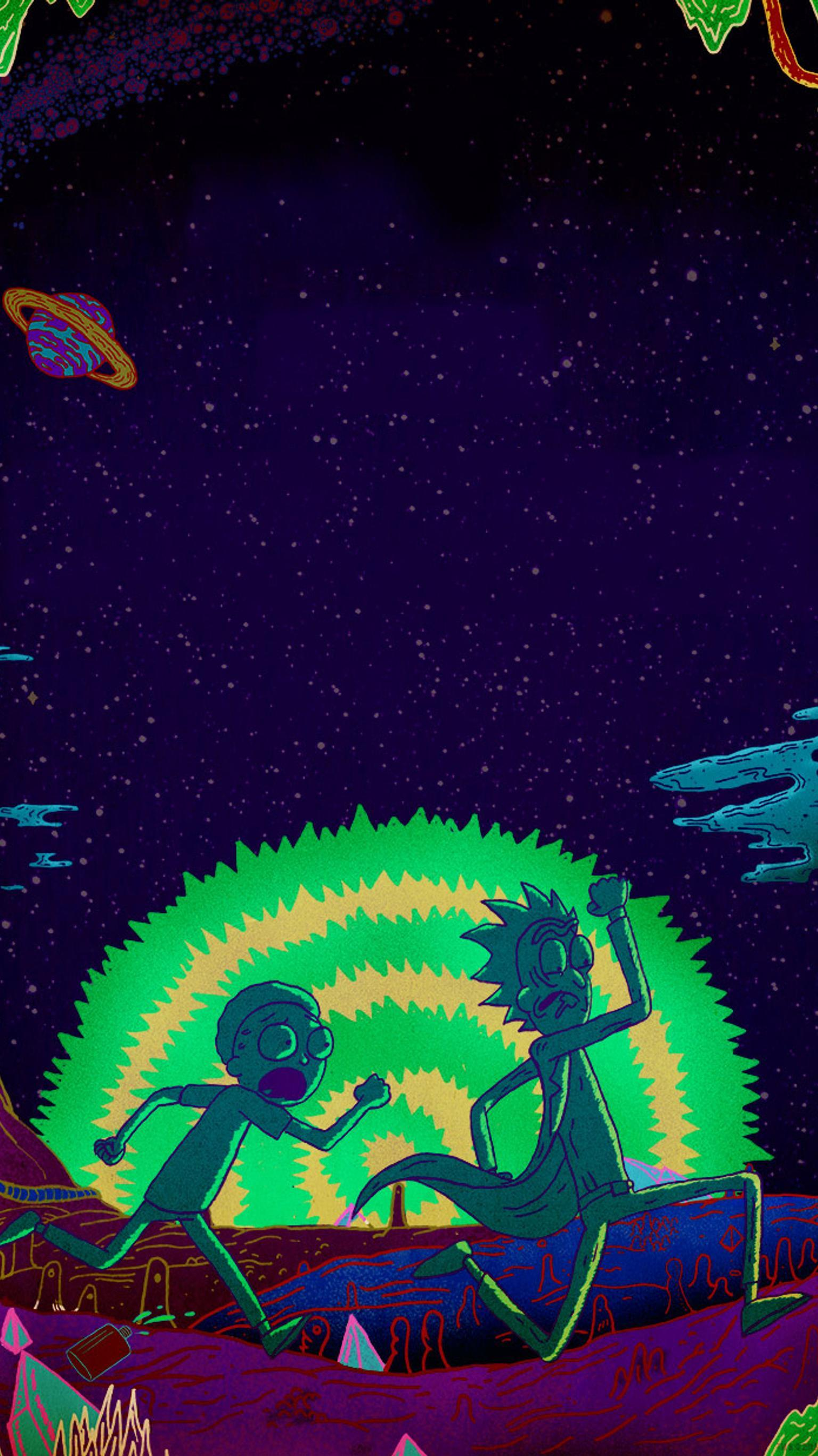 Rick And Morty Iphone Wallpapers Wallpaper Cave