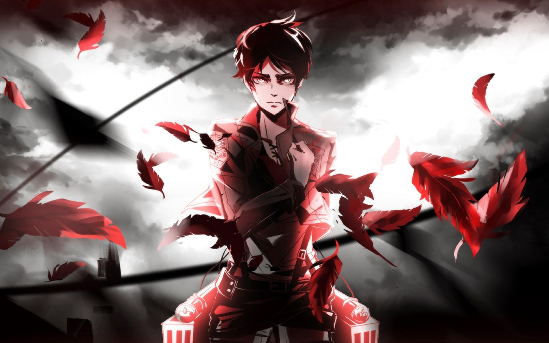 Eren Yeager from Attack on Titan wallpaper, Shingeki no Kyojin, Eren