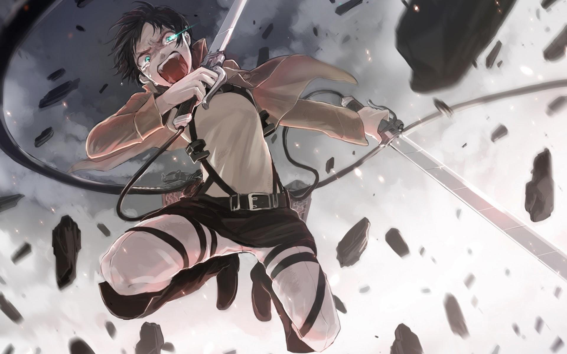 49+] Attack on Titan Wallpapers Eren