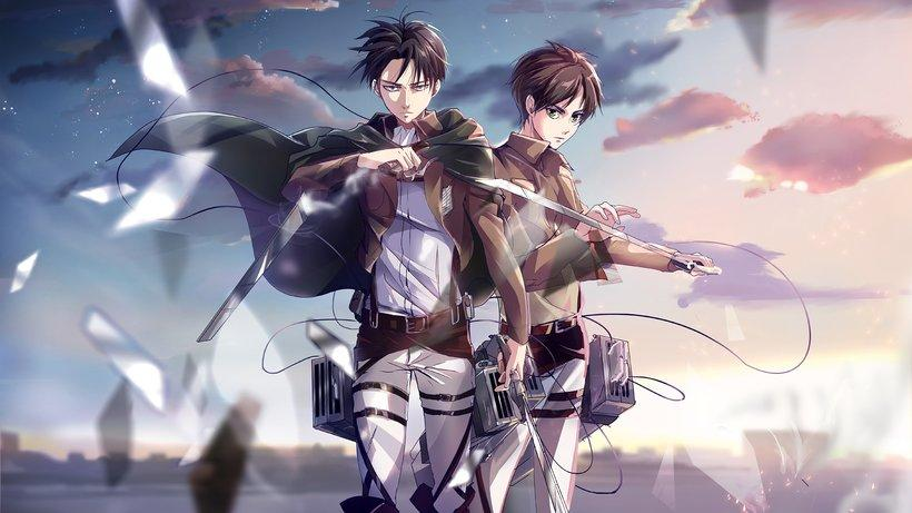 Levi and Eren Yeager Attack on Titan Shingeki no Kyojin 4K