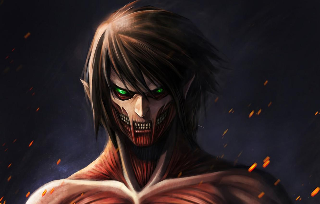 Wallpapers art, Titan, Shingeki no Kyojin, Eren Yeager, Attack of the