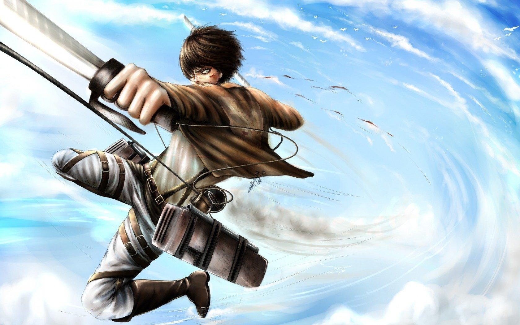 Eren Yeager wallpapers 1680x1050 desktop backgrounds