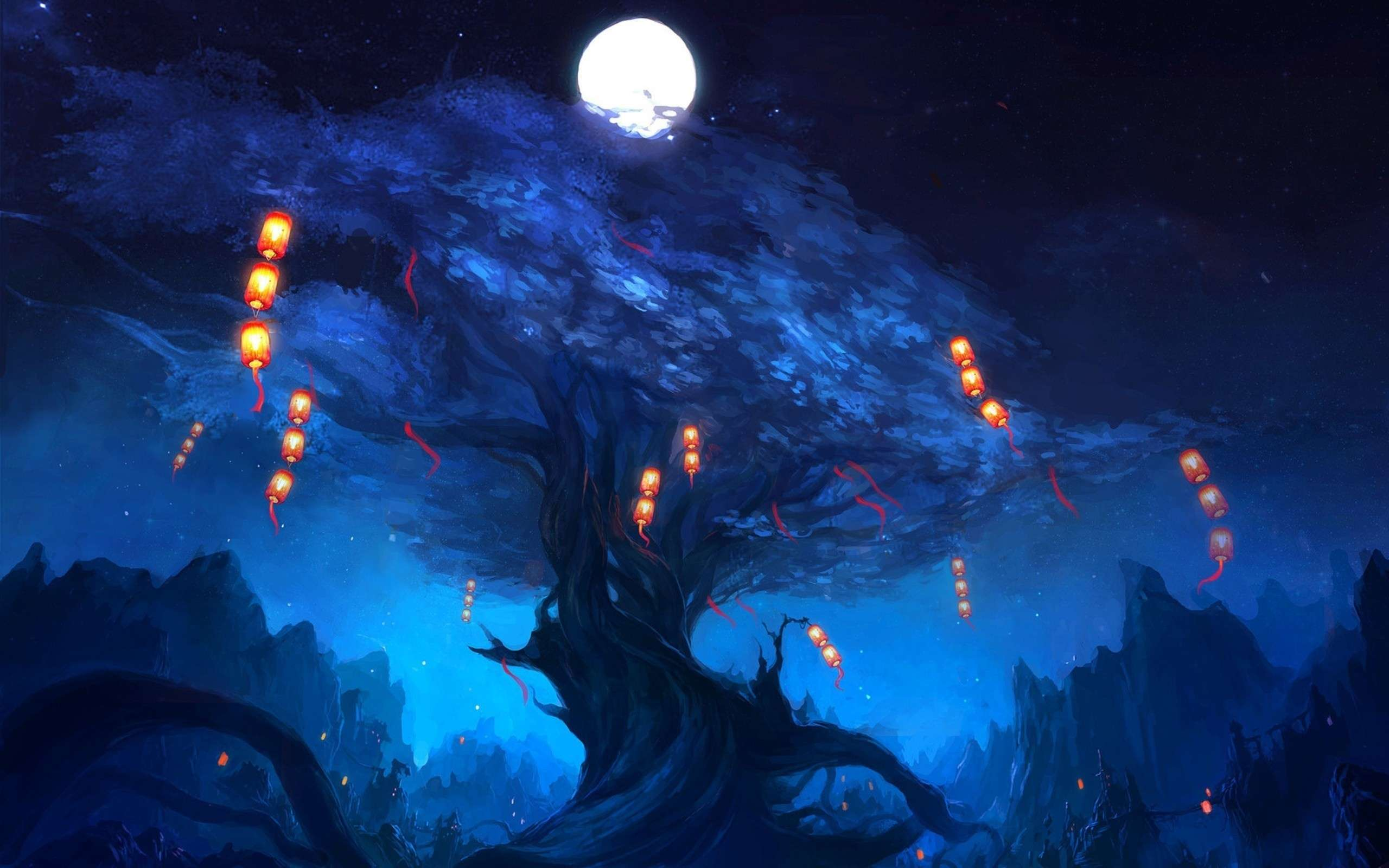 Lantern Fantasy Wallpapers Wallpaper Cave
