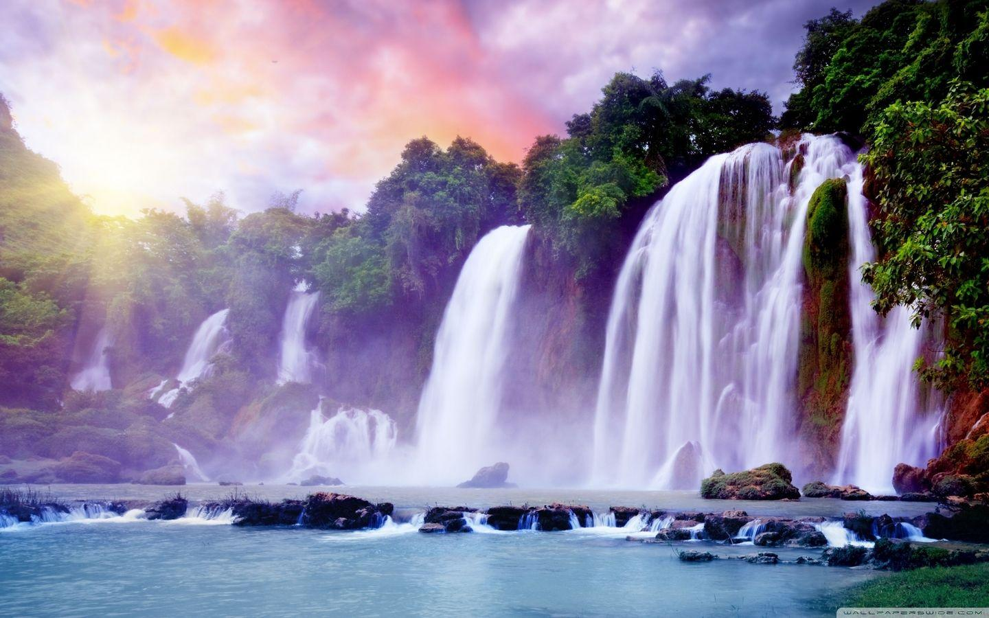 Waterfall Scenery Wallpapers Wallpaper Cave