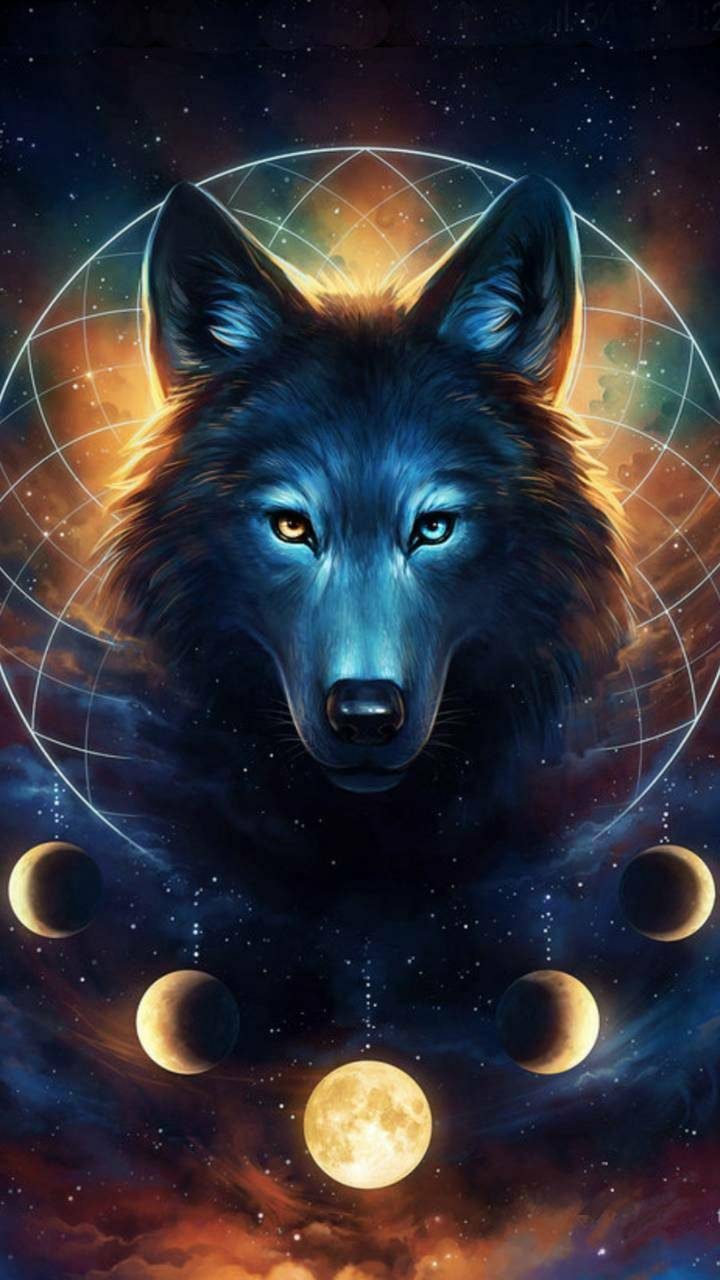 Wolf And Moon Wallpapers Wallpaper Cave