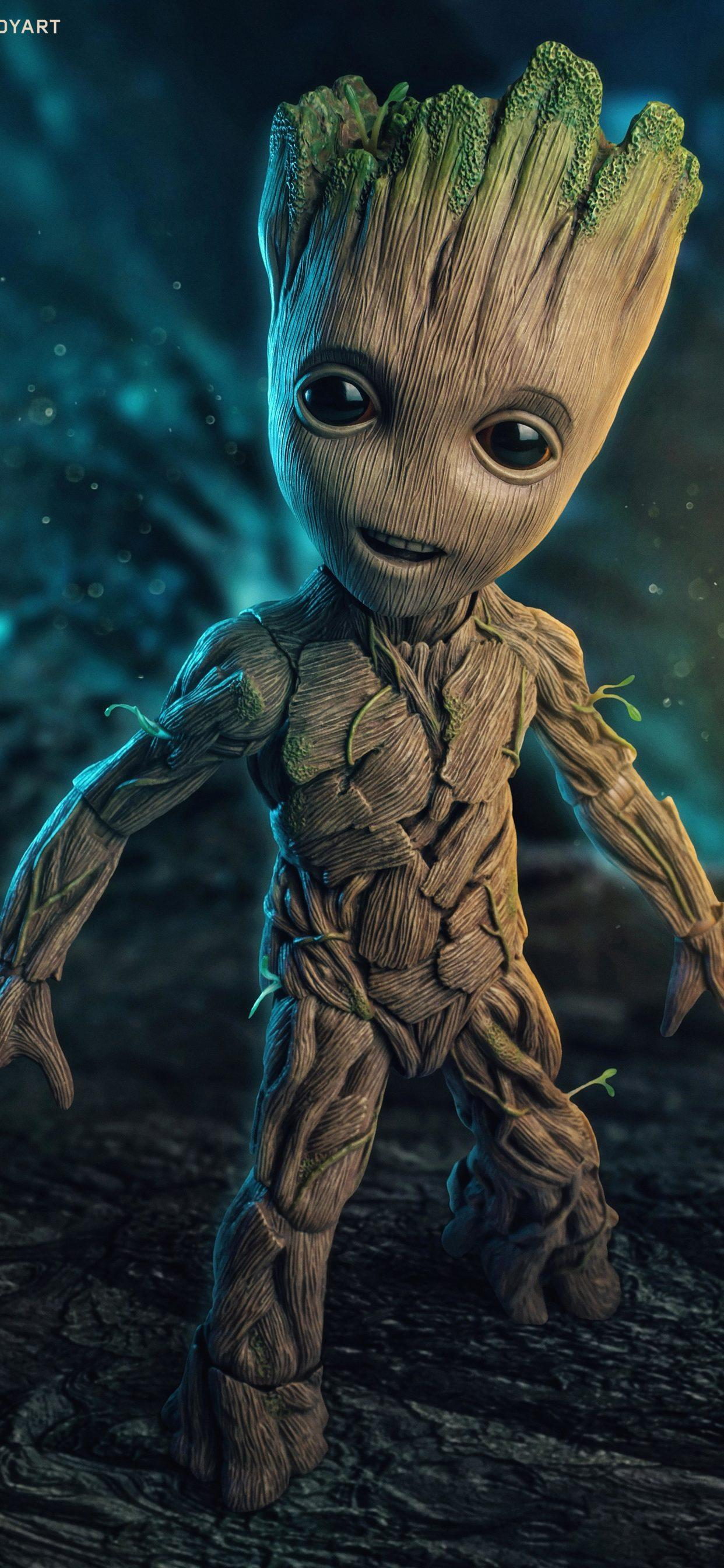 Groot And Baby Groot Wallpapers Wallpaper Cave