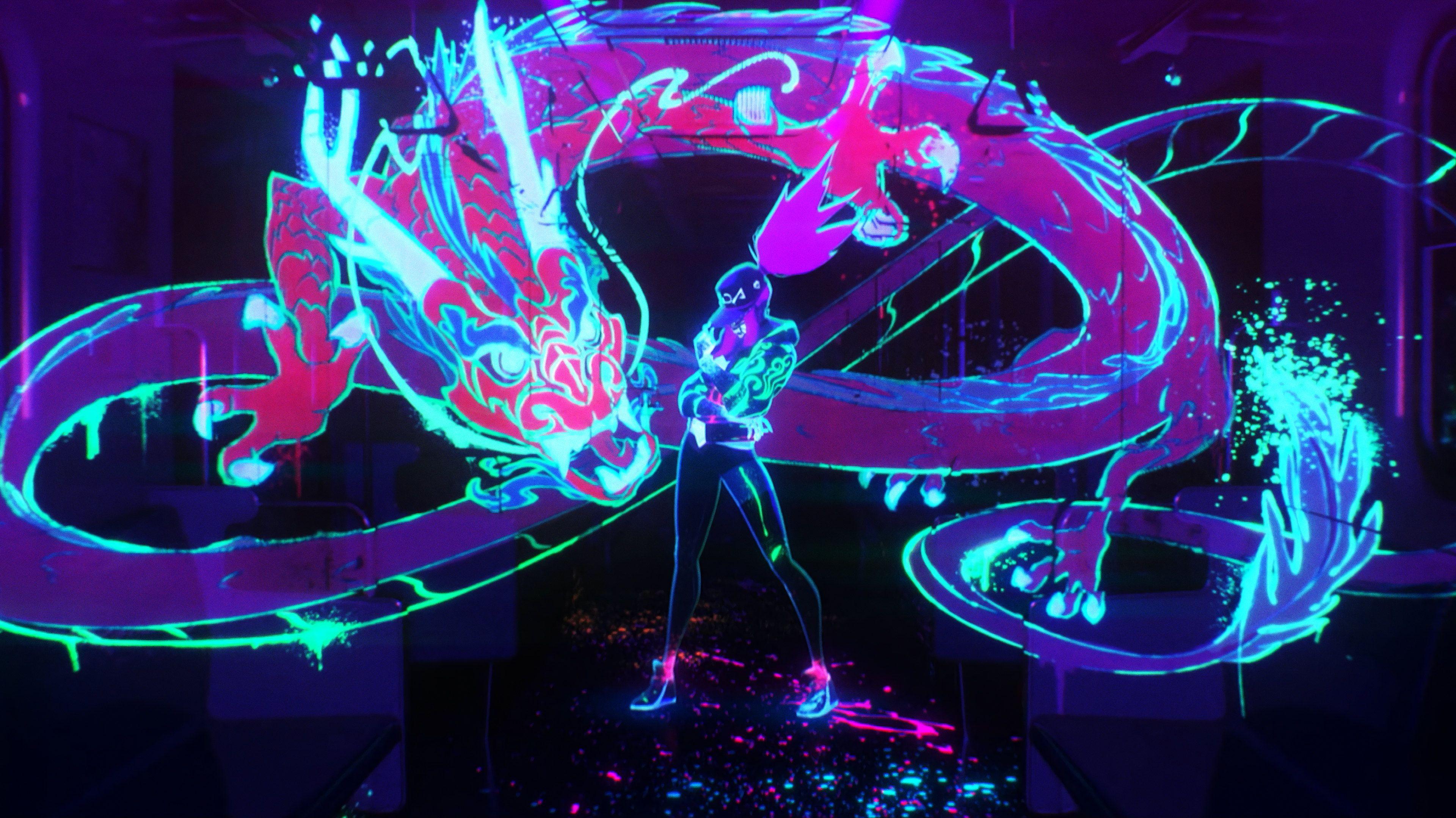 KDA Akali Neon Wallpapers - Wallpaper Cave