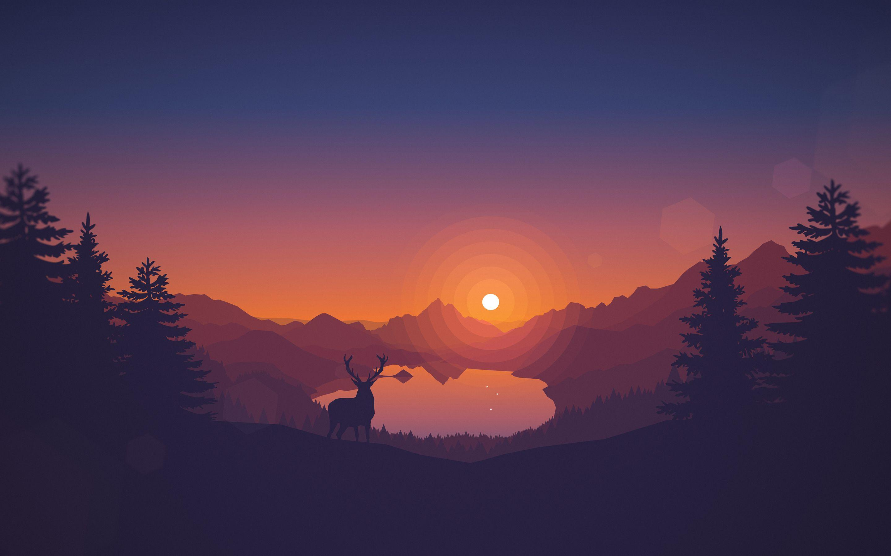Scenic Sunset Lakeview Wallpapers Wallpaper Cave