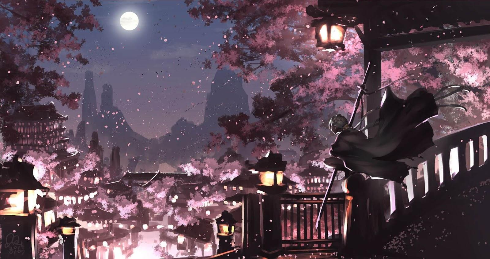 Sakura Night Wallpapers Wallpaper Cave