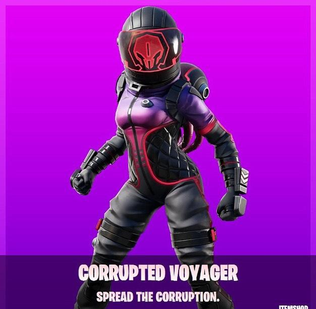 Corrupted Voyager Fortnite wallpapers