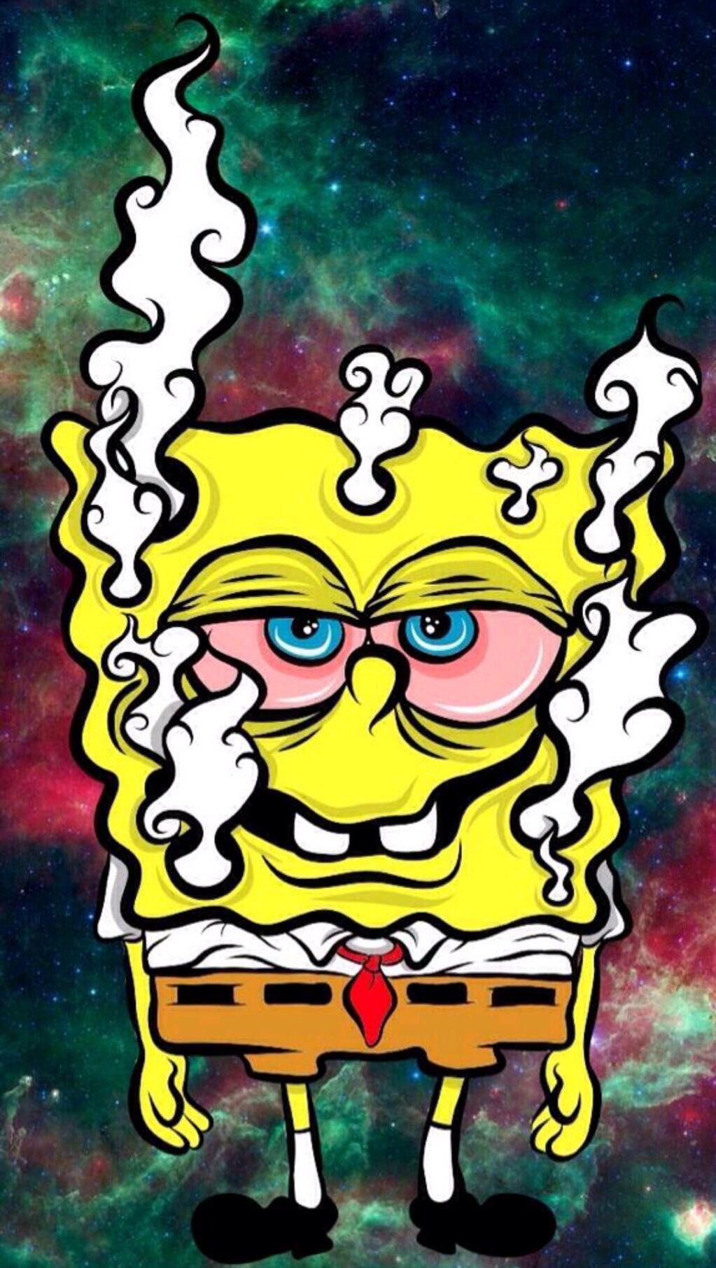 Spongebob Weed Wallpapers Wallpaper Cave