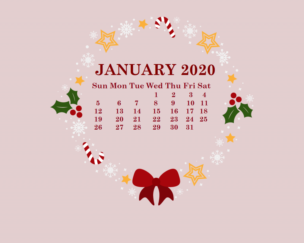 January 2020 Calendar Wallpapers Wallpaper Cave
