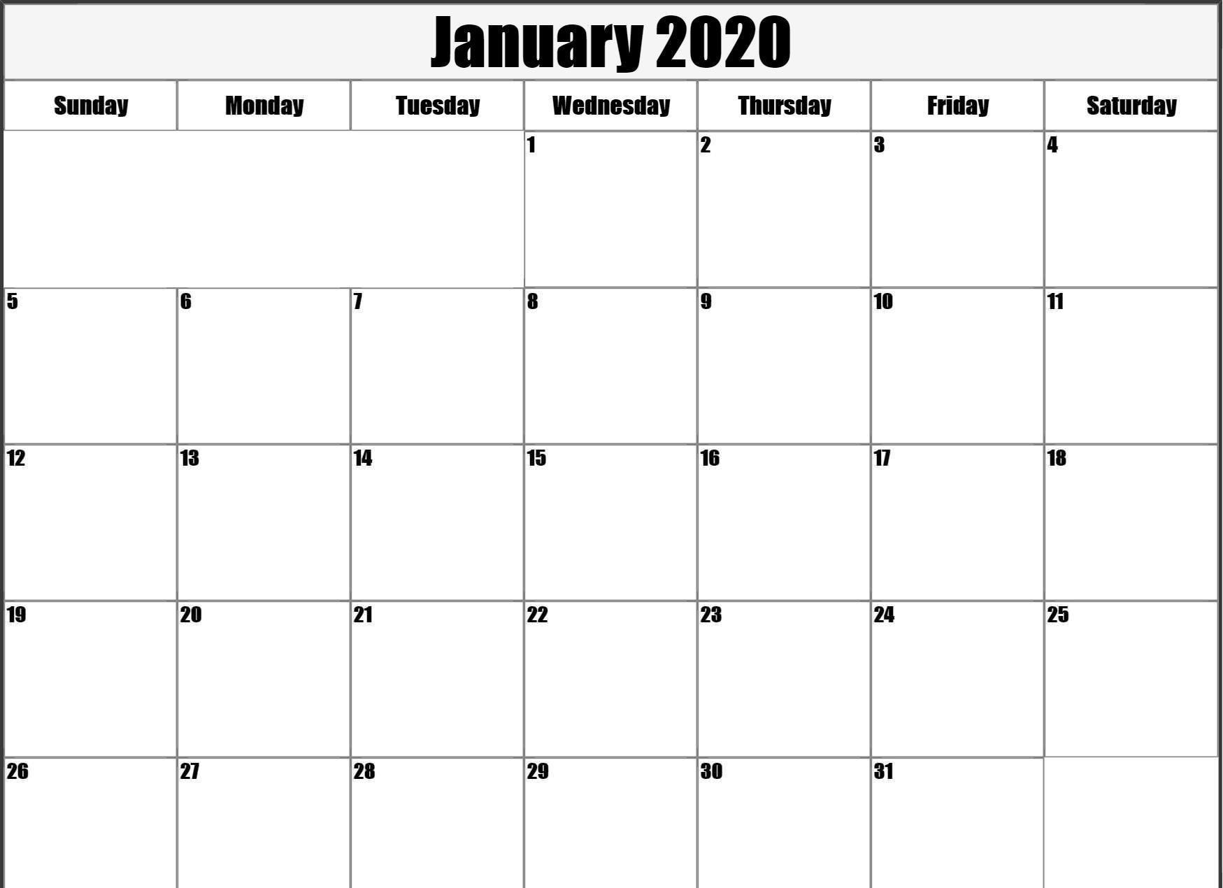 January 2020 Calendar Wallpapers - Wallpaper Cave