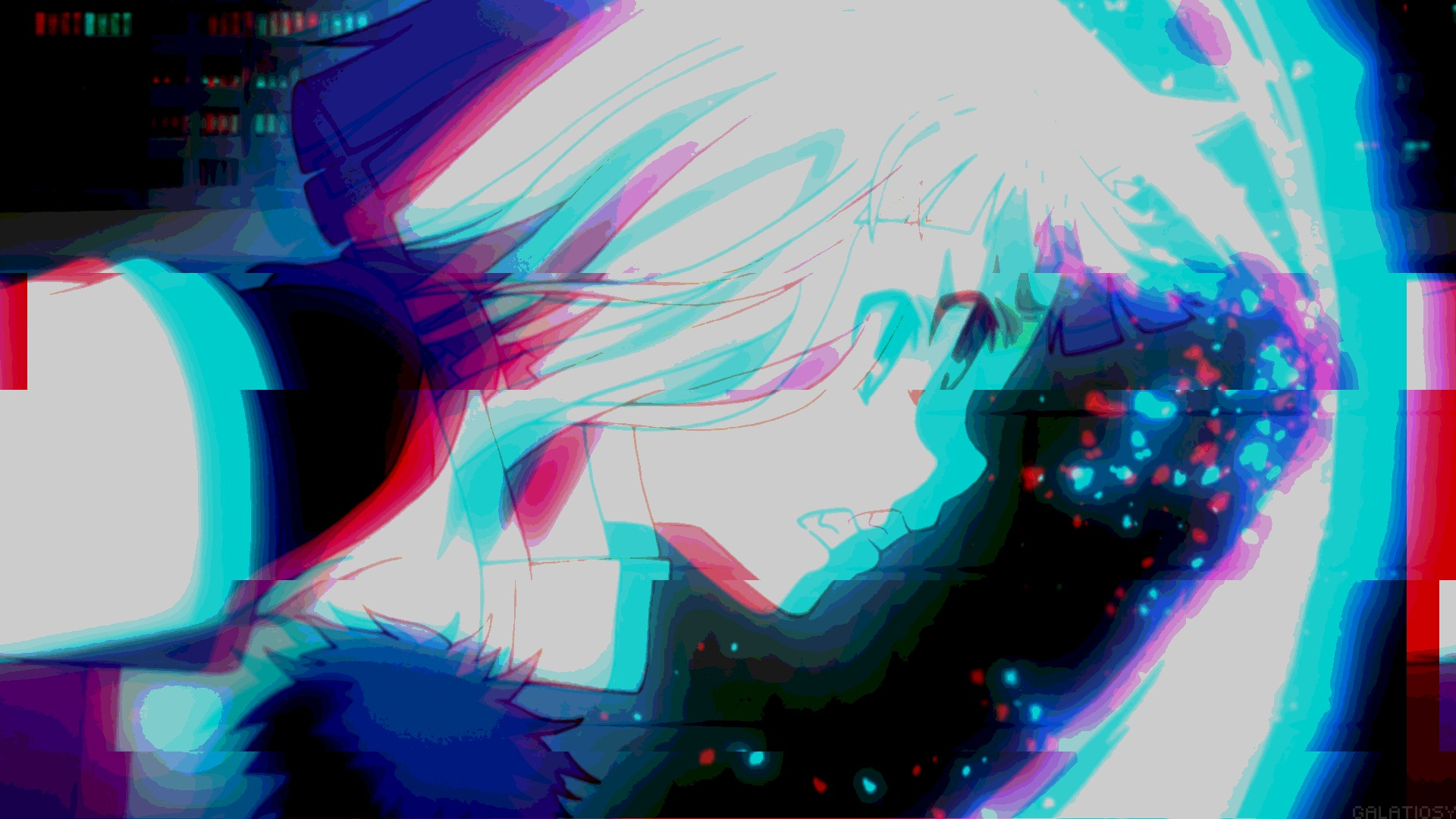 Cute Anime Girl HD Aesthetic Glitch Wallpapers 65770 1920x1080px