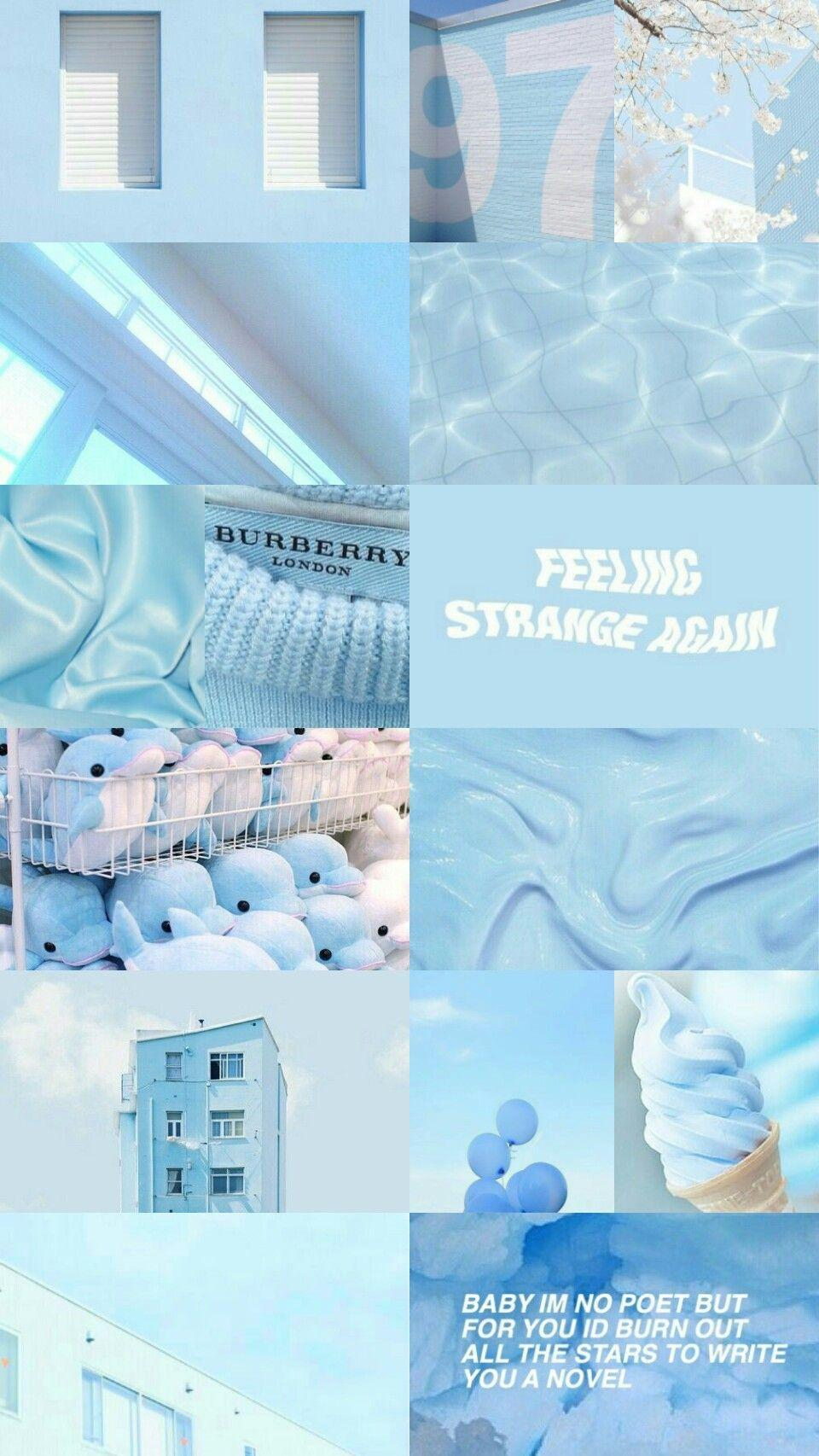 Aesthetic Pastel Blue Baby Blue Wallpaper Total Update
