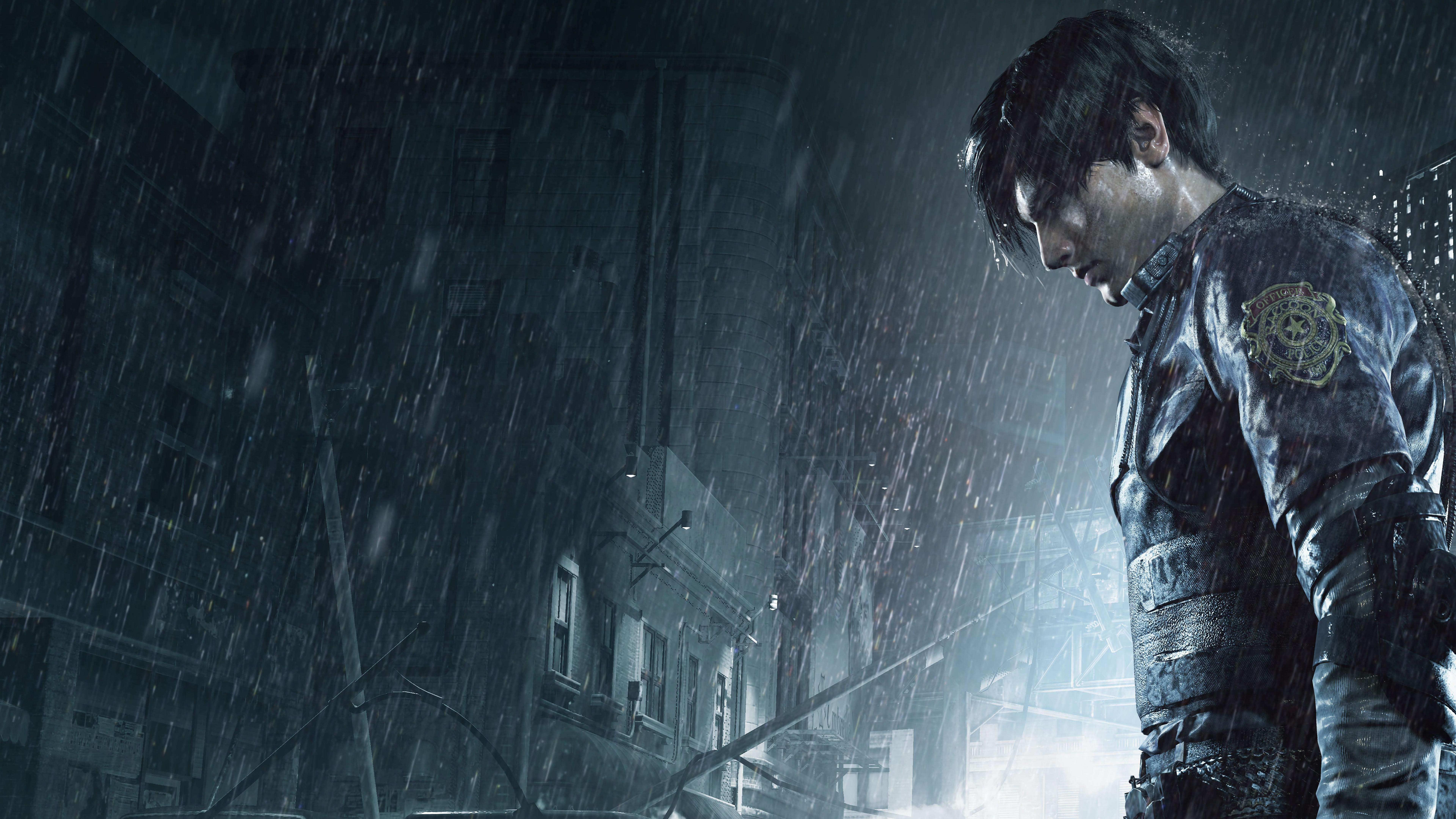 Leon Kennedy Resident Evil 2 Wallpapers Wallpaper Cave