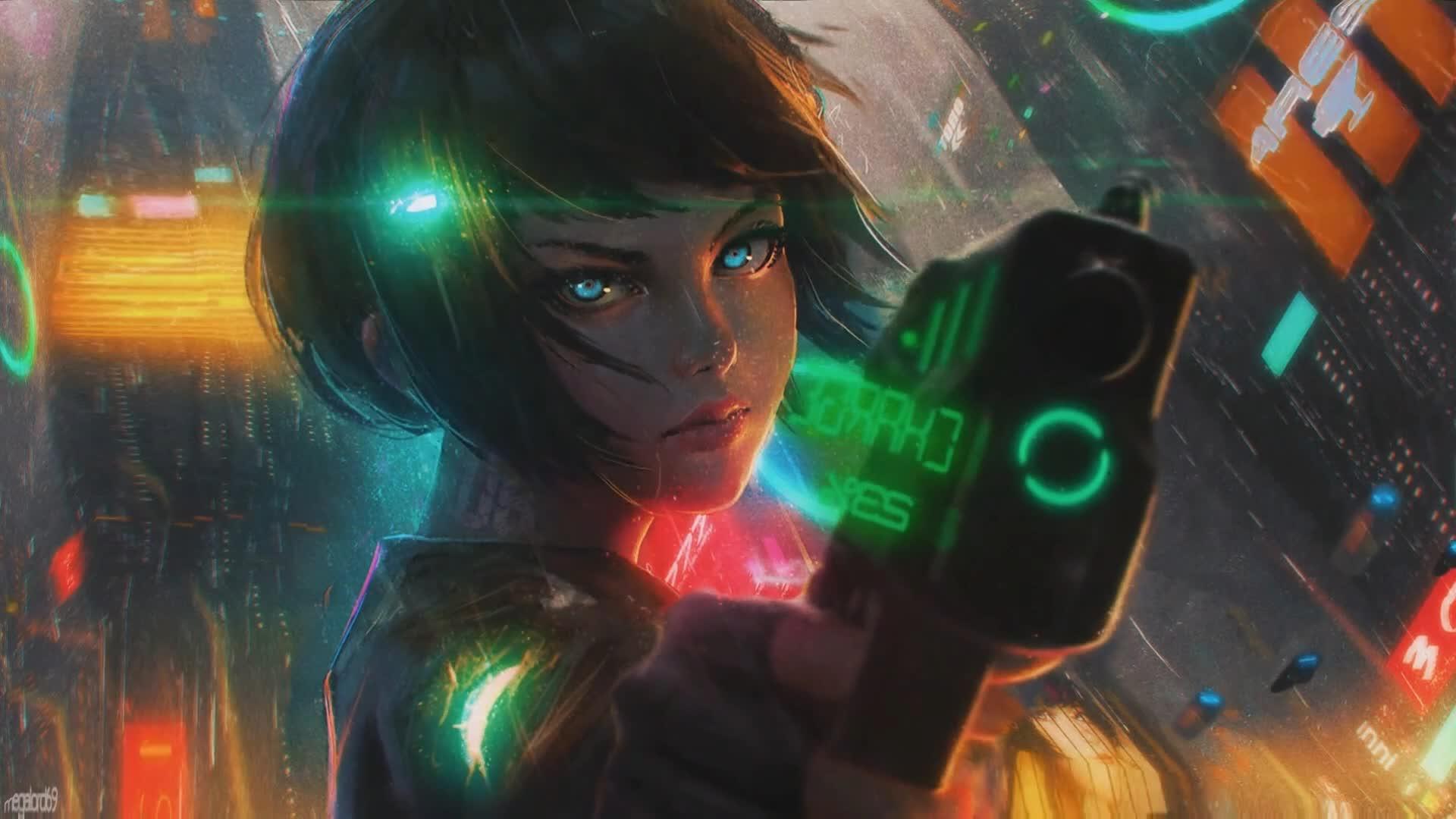 Cyberpunk Girl In Rain Wallpapers Wallpaper Cave