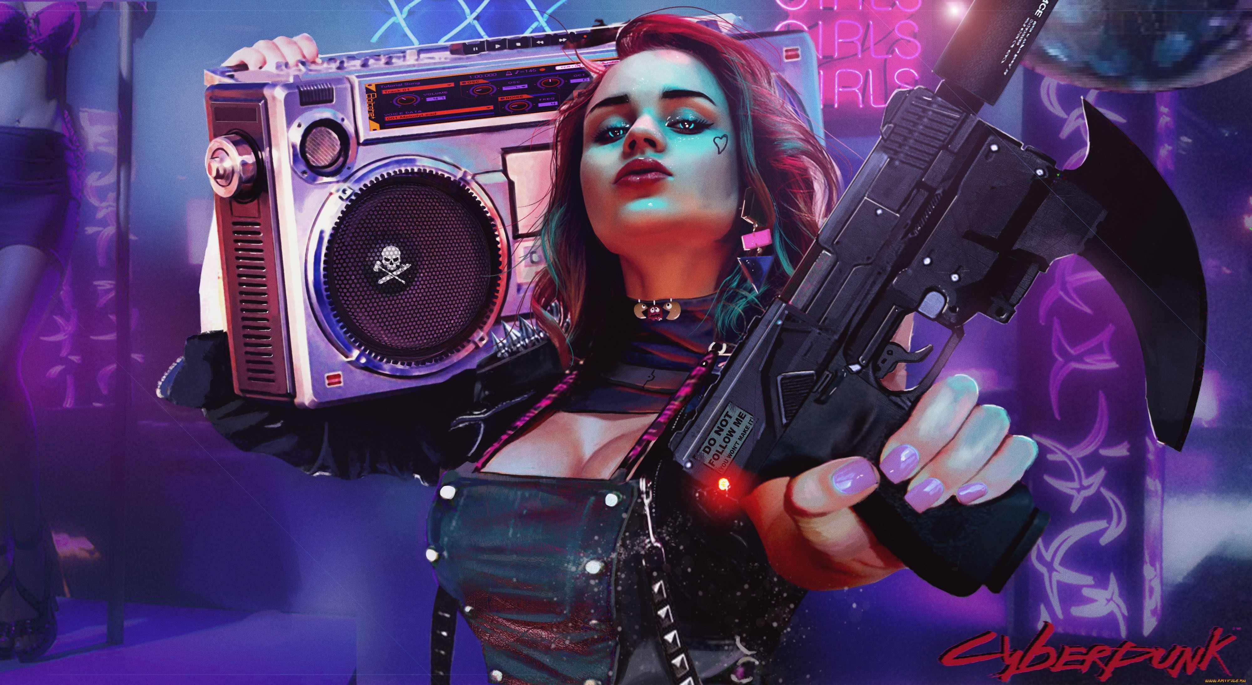 Cyberpunk Girl Wallpapers Wallpaper Cave