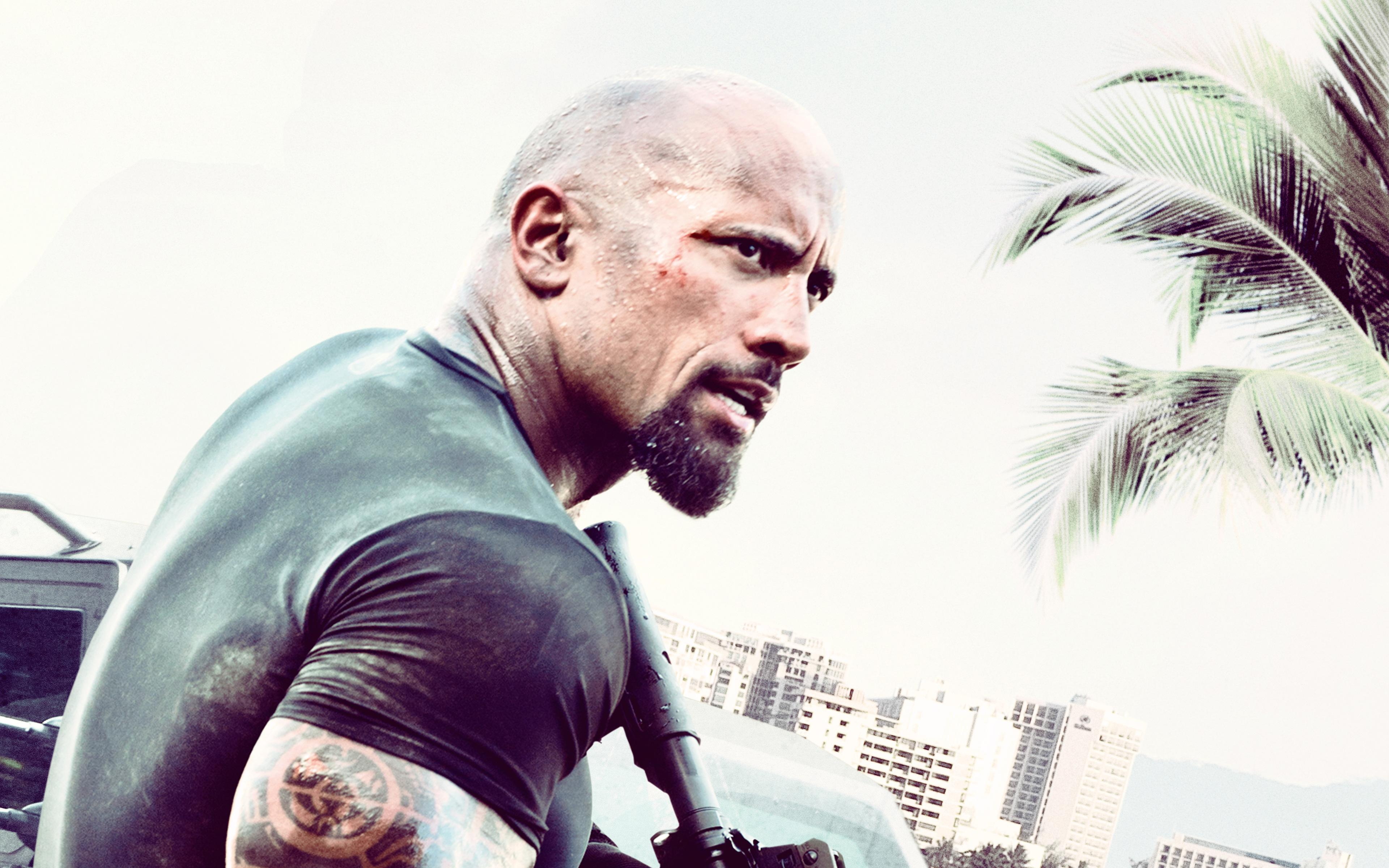 Download wallpapers Rock, 4k, Dwayne Johnson, The Fast and the