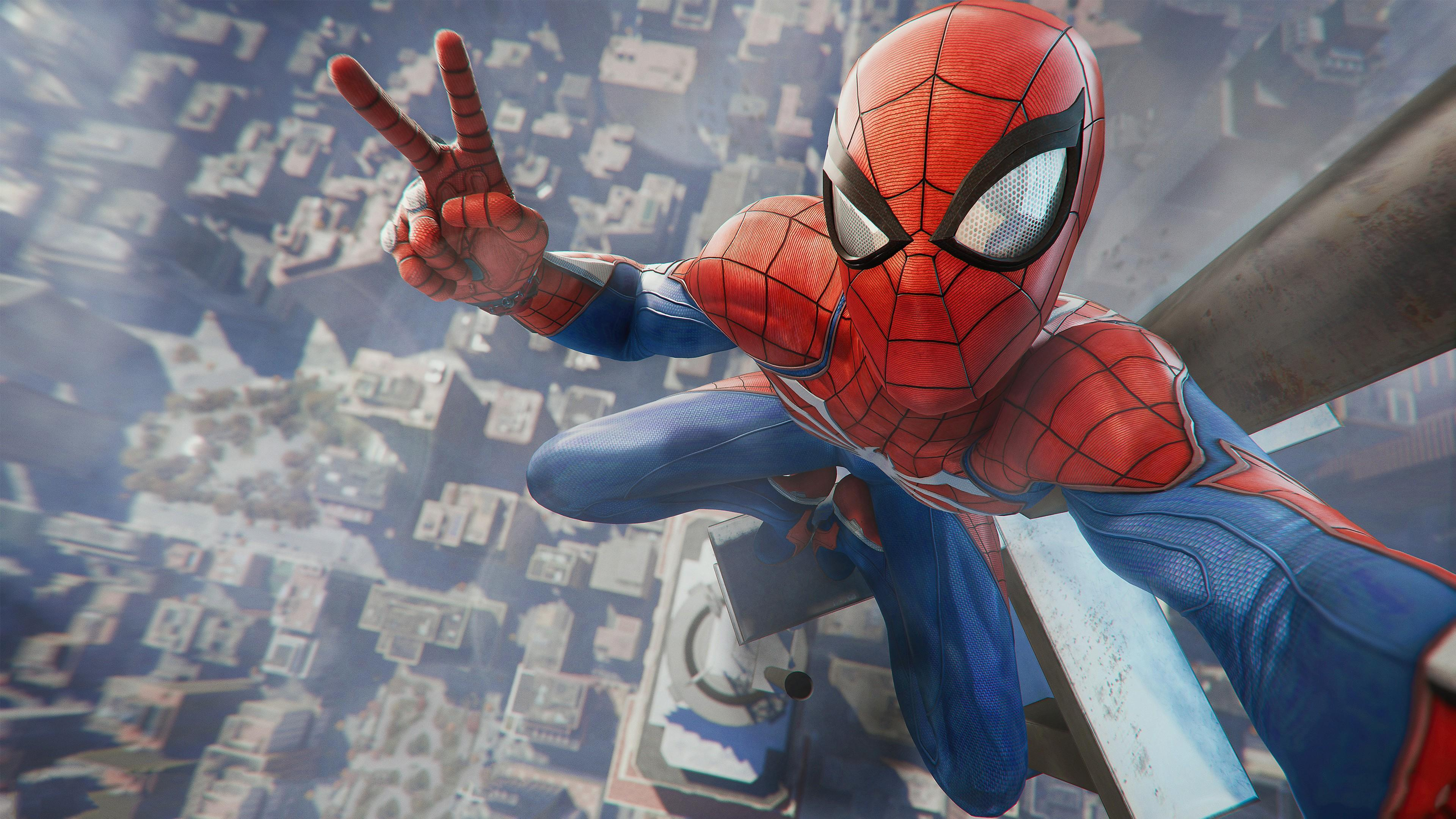 Game: Spider Man Game PlayStation 4 2018 4K Wallpapers HD