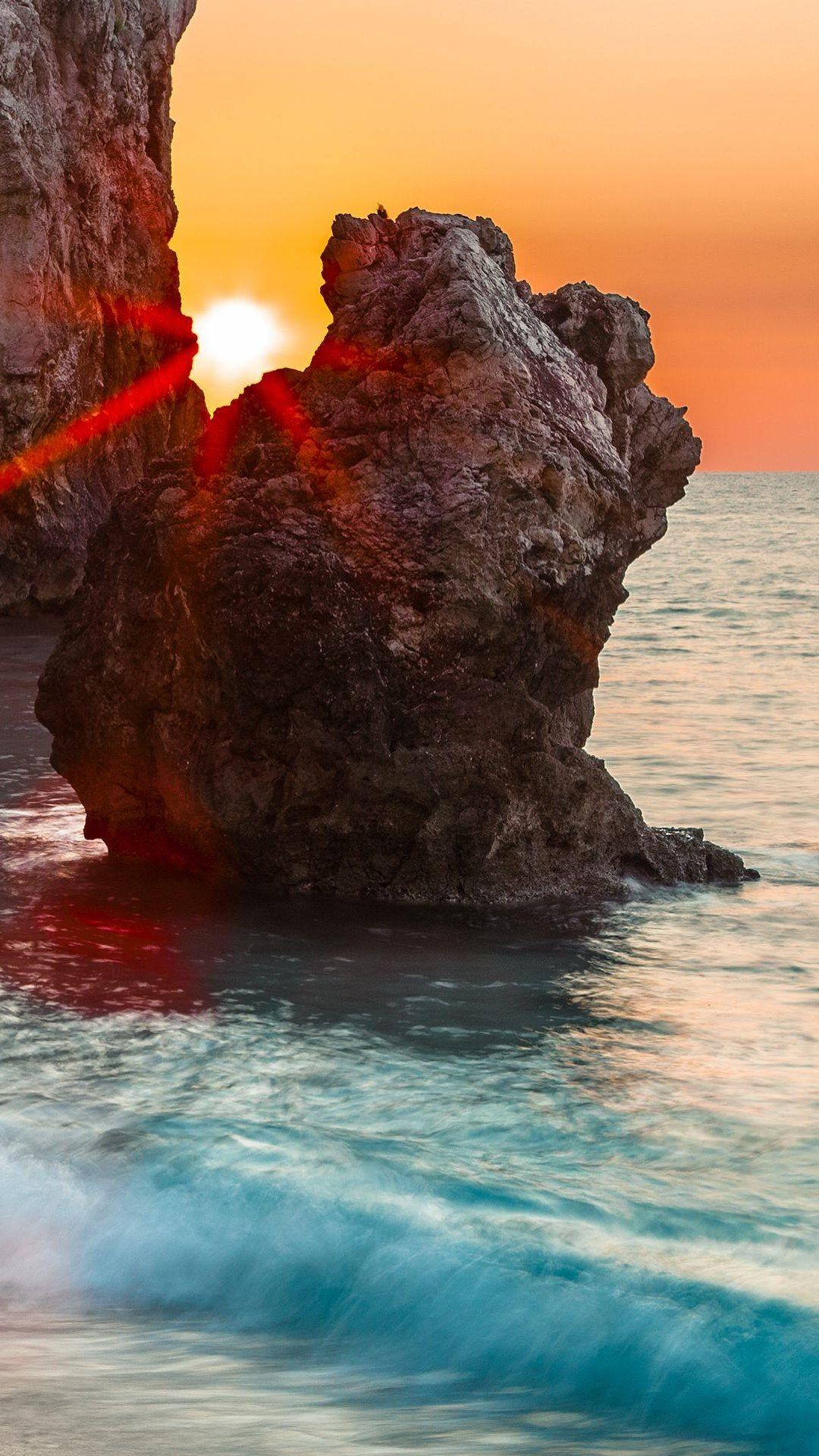 Sunshine Sea And Rocks Wallpapers Wallpaper Cave