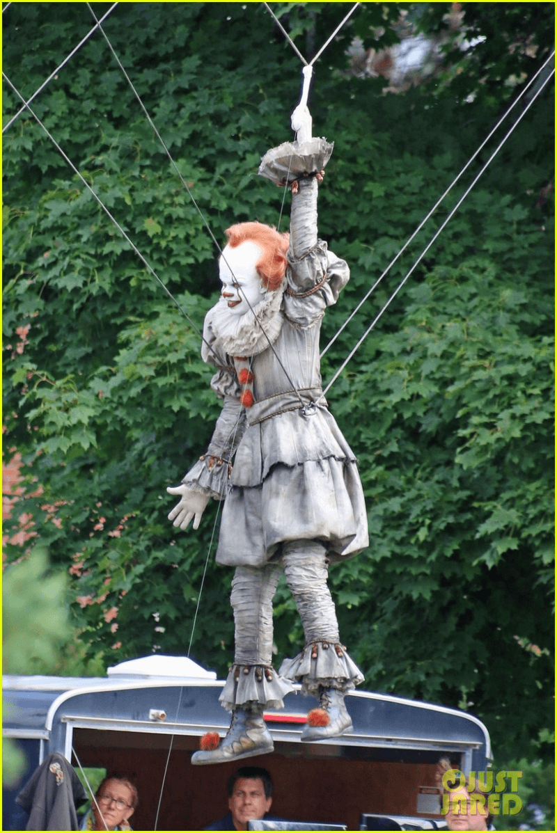 Here's Another Look at Pennywise from the Set of It: Chapter Two