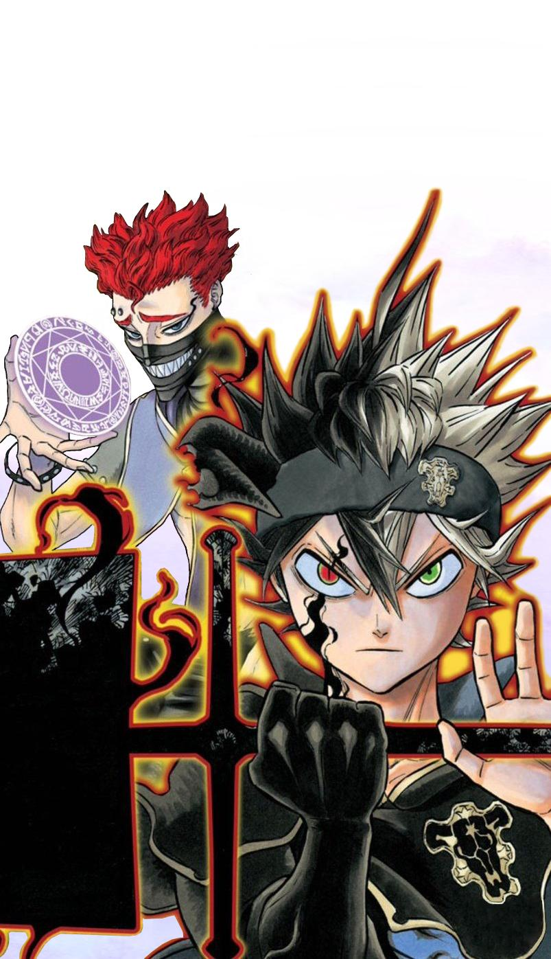 clover phone wallpapers asta blackclover nero android anime backgrounds menakjubkan leave fan
