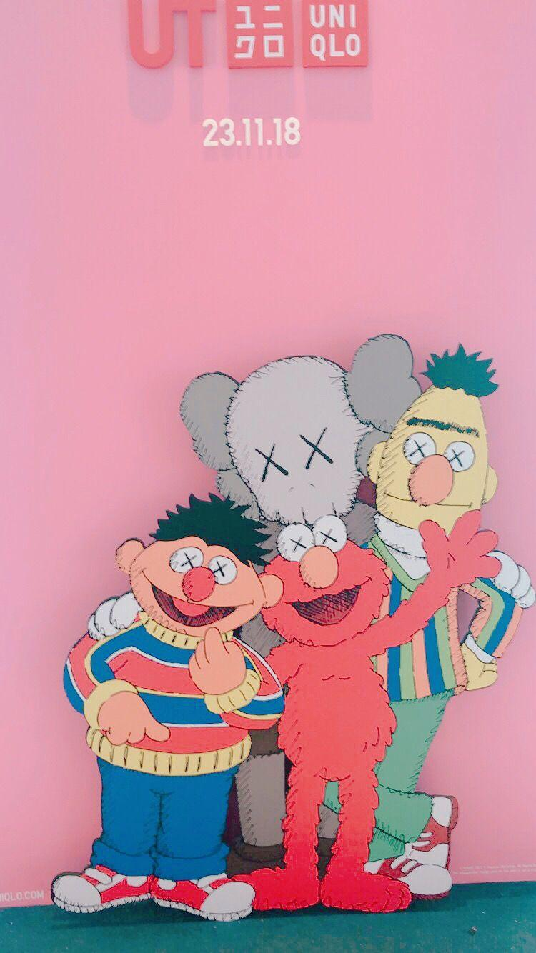Cool Wallpaper Elmo Kaws Images