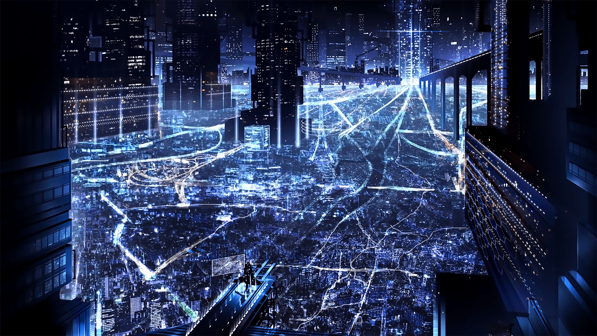 Cityscape Night Anime Wallpapers - Wallpaper Cave