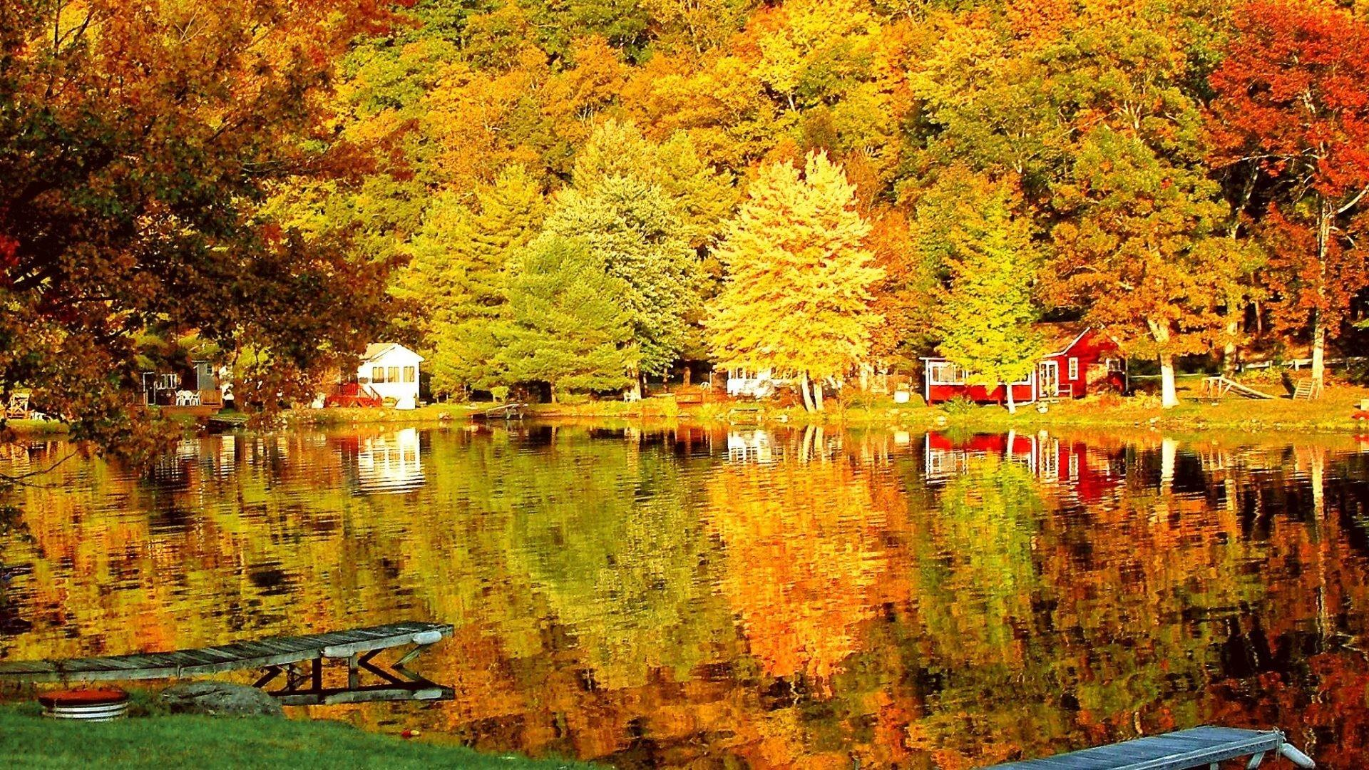 Fall Colors Reflection Wallpapers Wallpaper Cave
