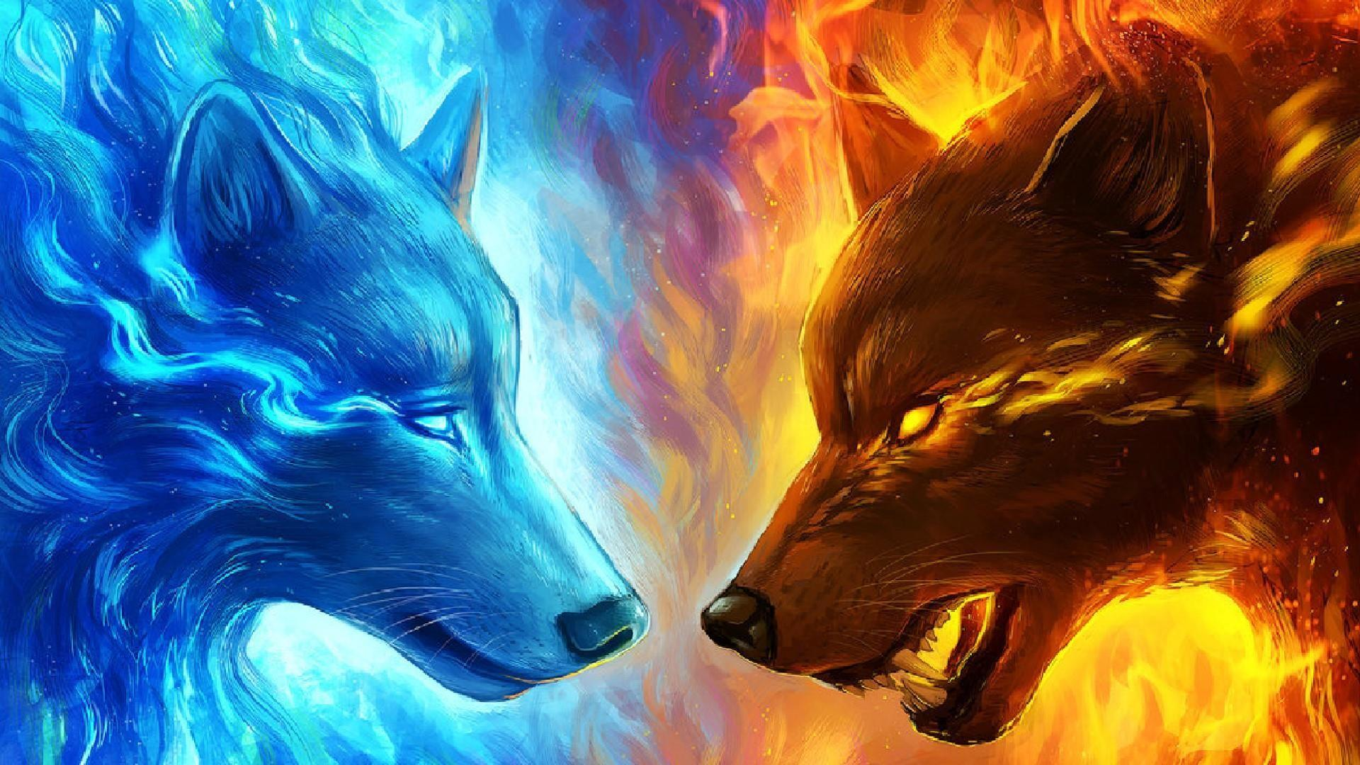 Anime Fire Wolf Wallpapers Wallpaper Cave