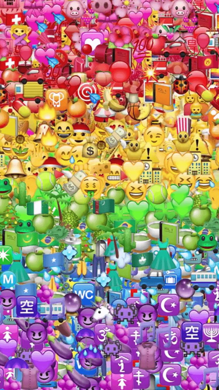 Emoji Iphone Wallpapers Wallpaper Cave