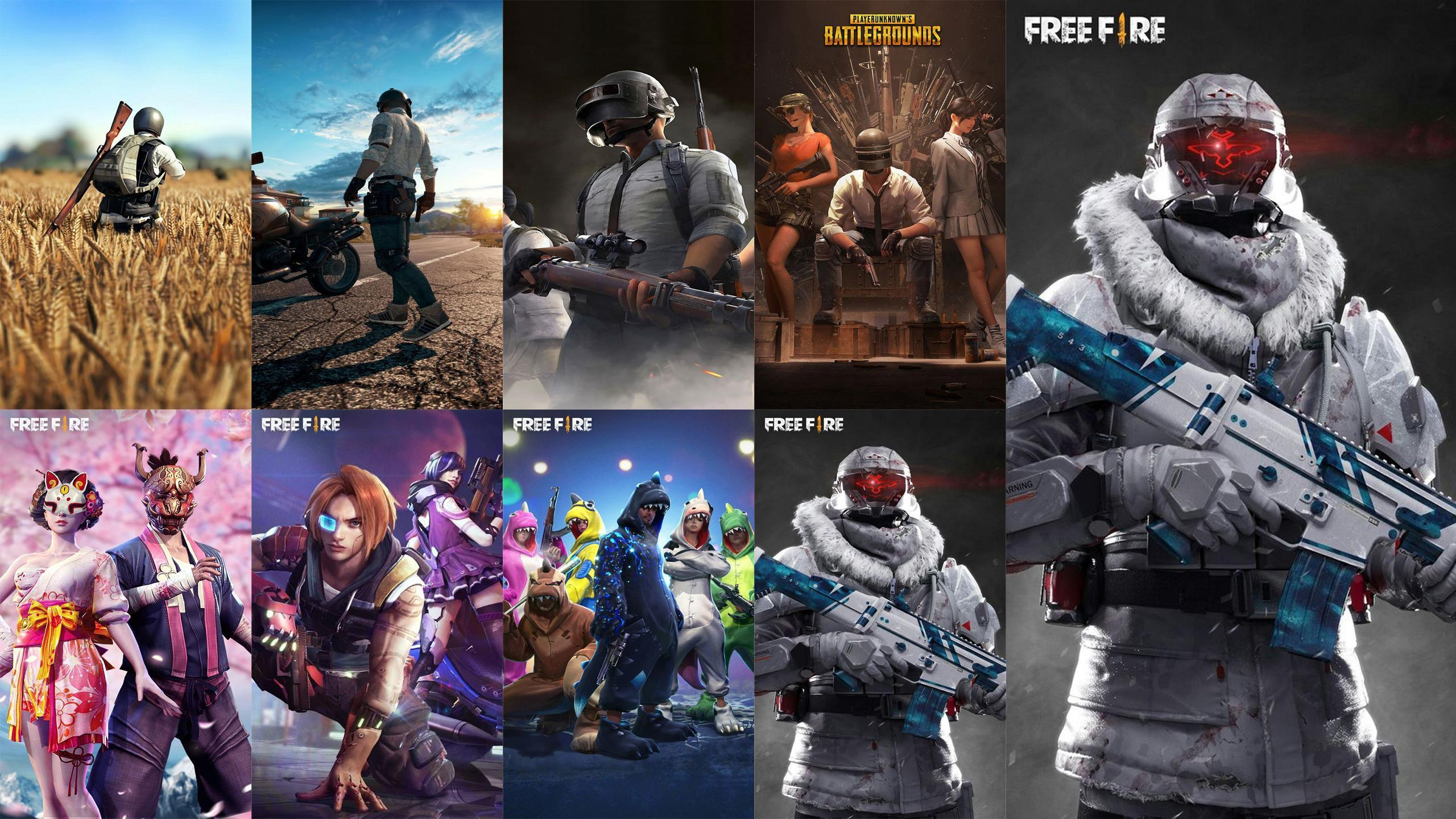 Free Fire Vs Pubg Wallpapers Wallpaper Cave