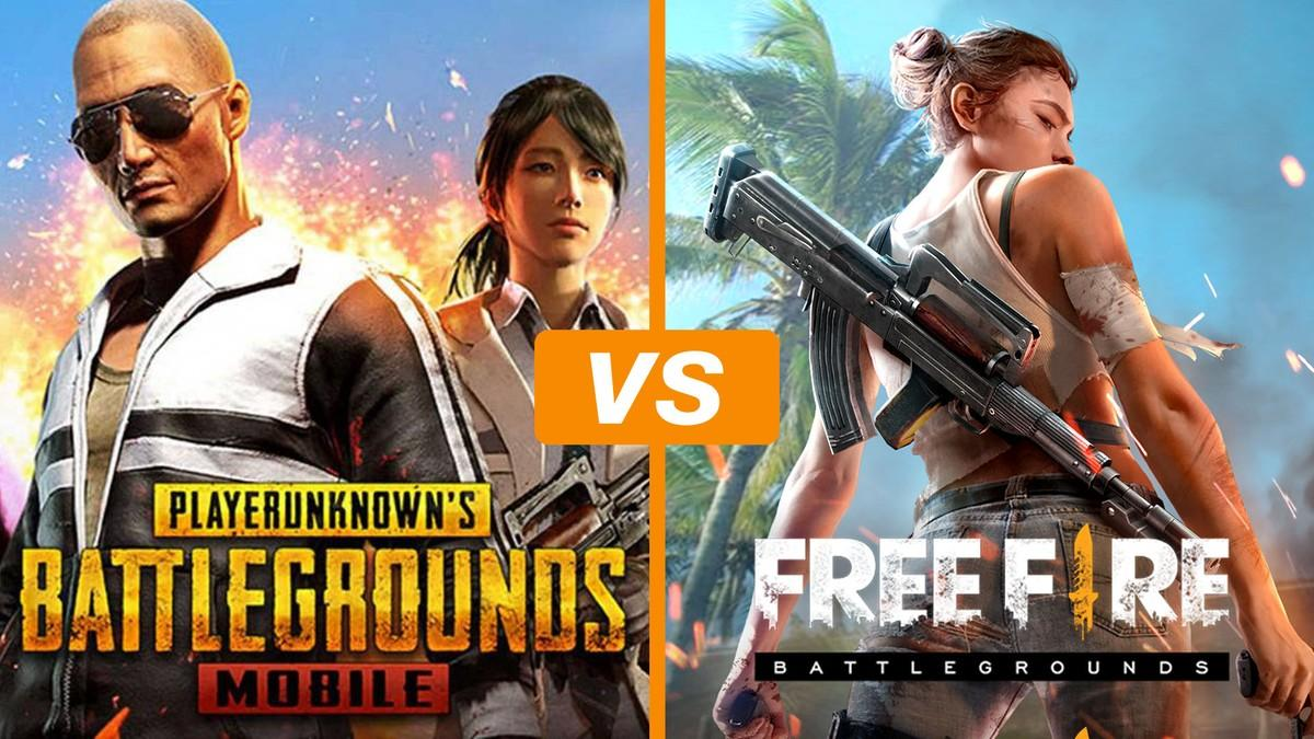 Pubg Vs Free Fire Wallpapers Wallpaper Cave